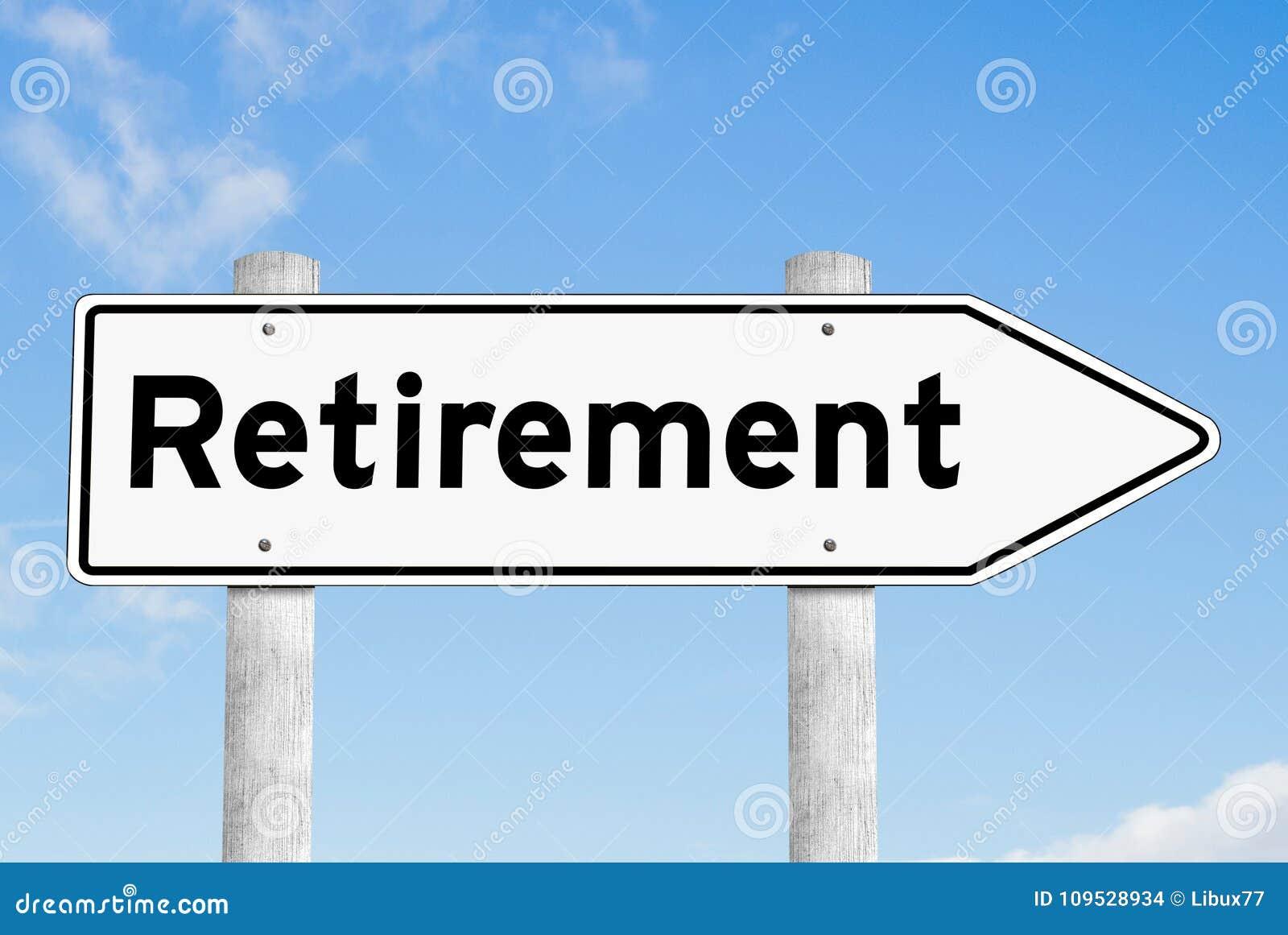 Retirement signpost direction sky