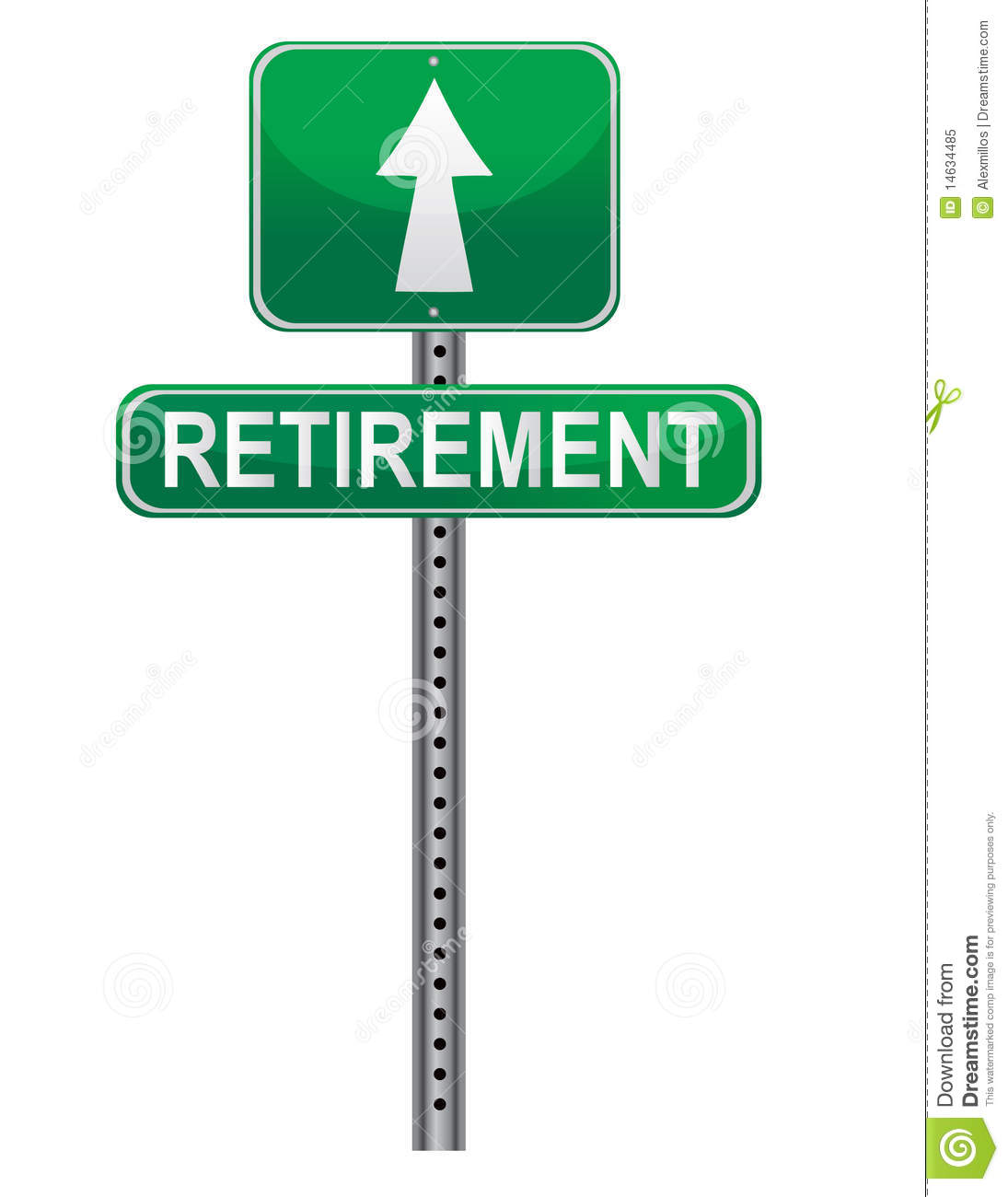 Retirement Street Sign Royalty Free Stock Photo - Image: 14634485