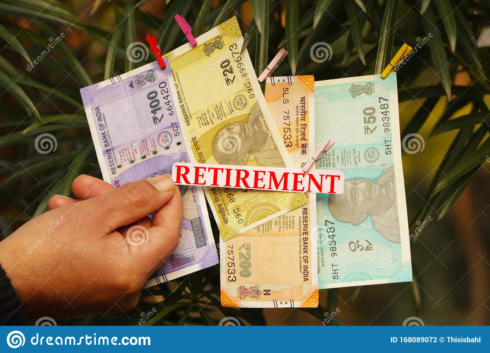 Retirement Text Indian Currency Stock Photo Image Of Face Male 168089072