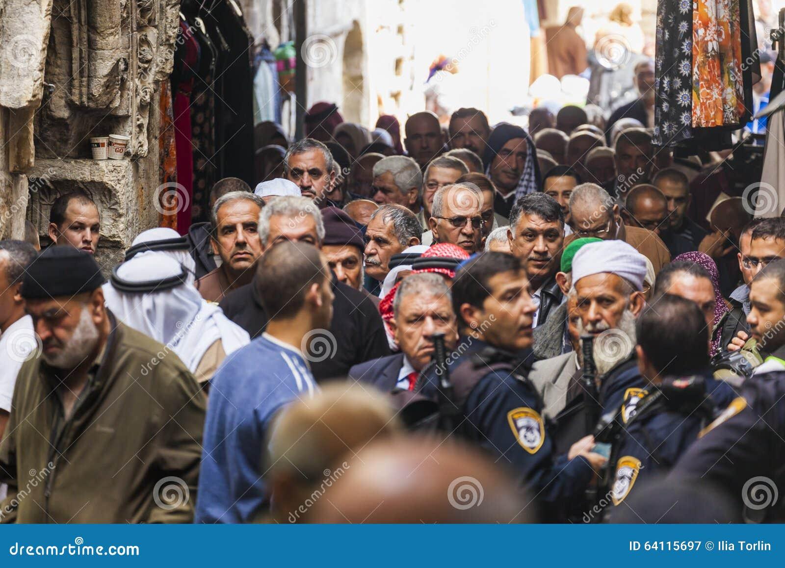 Retour de personnes de prière de vendredi l Israël Jérusalem