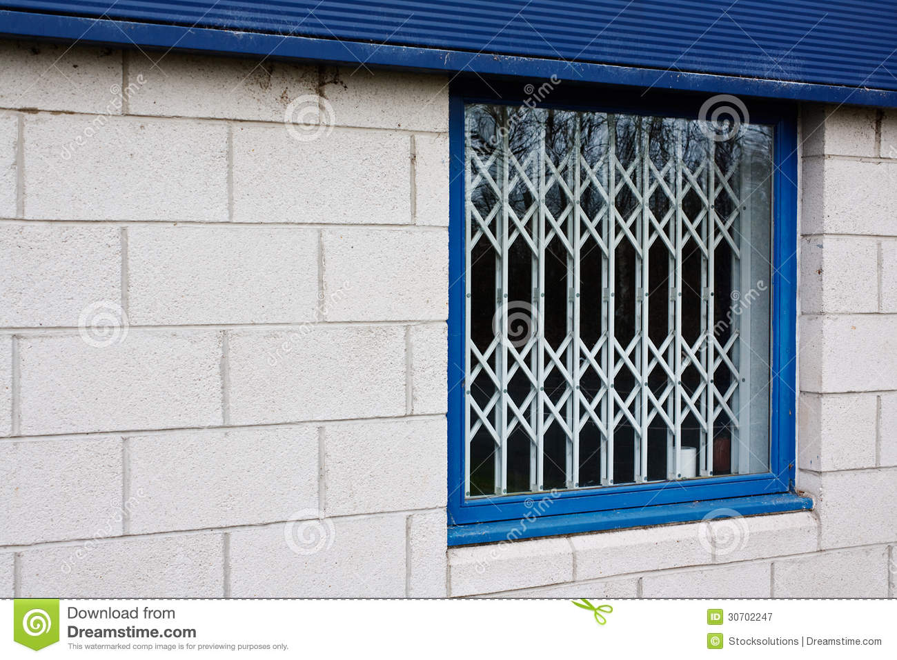 Retractable Window Security Gates Stock Image Image Of