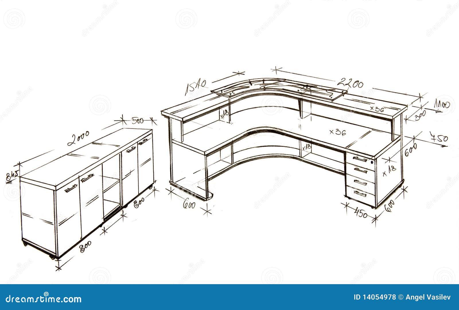 Retrait de dessin à main levée moderne de conception intérieure.