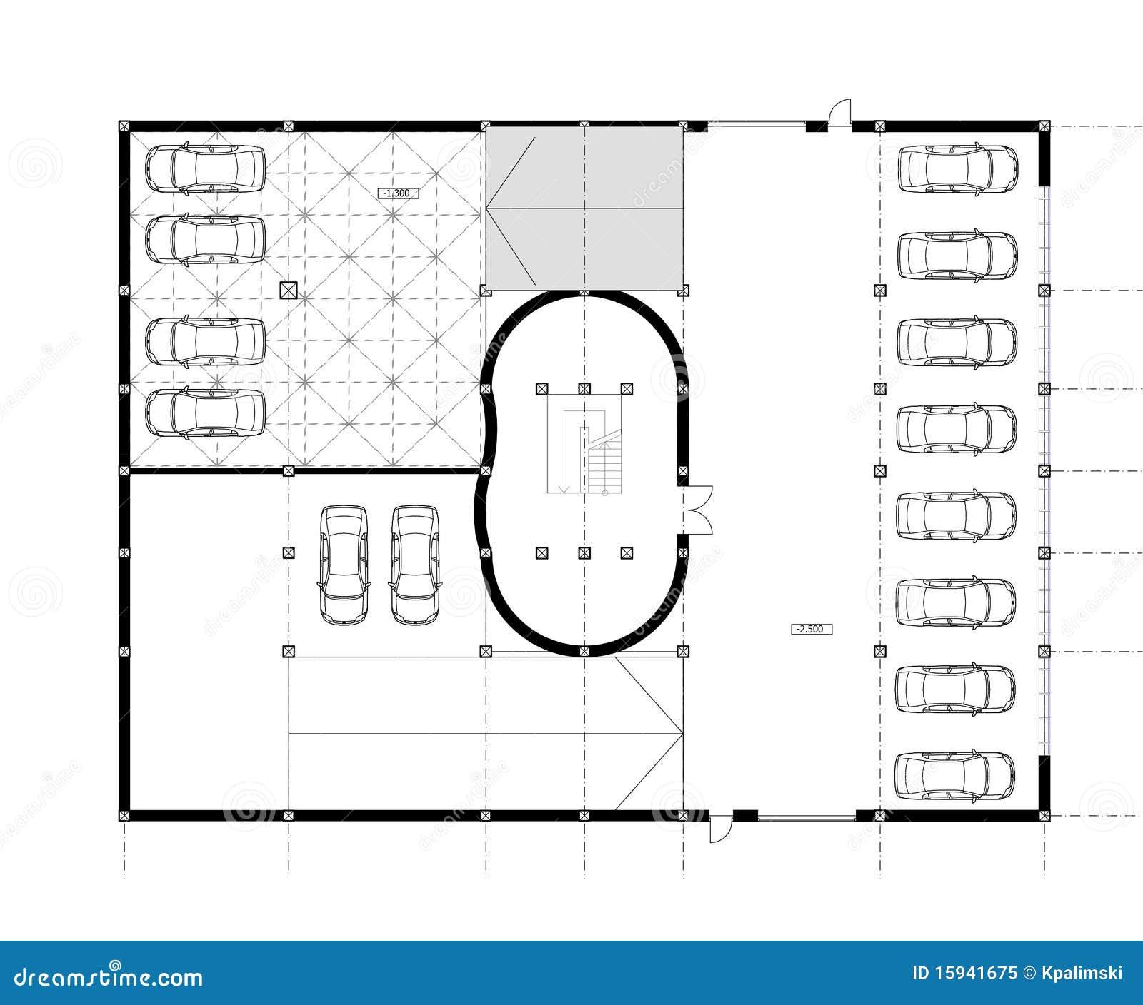 Retrait De Plan Architectural De Dao Illustration Stock