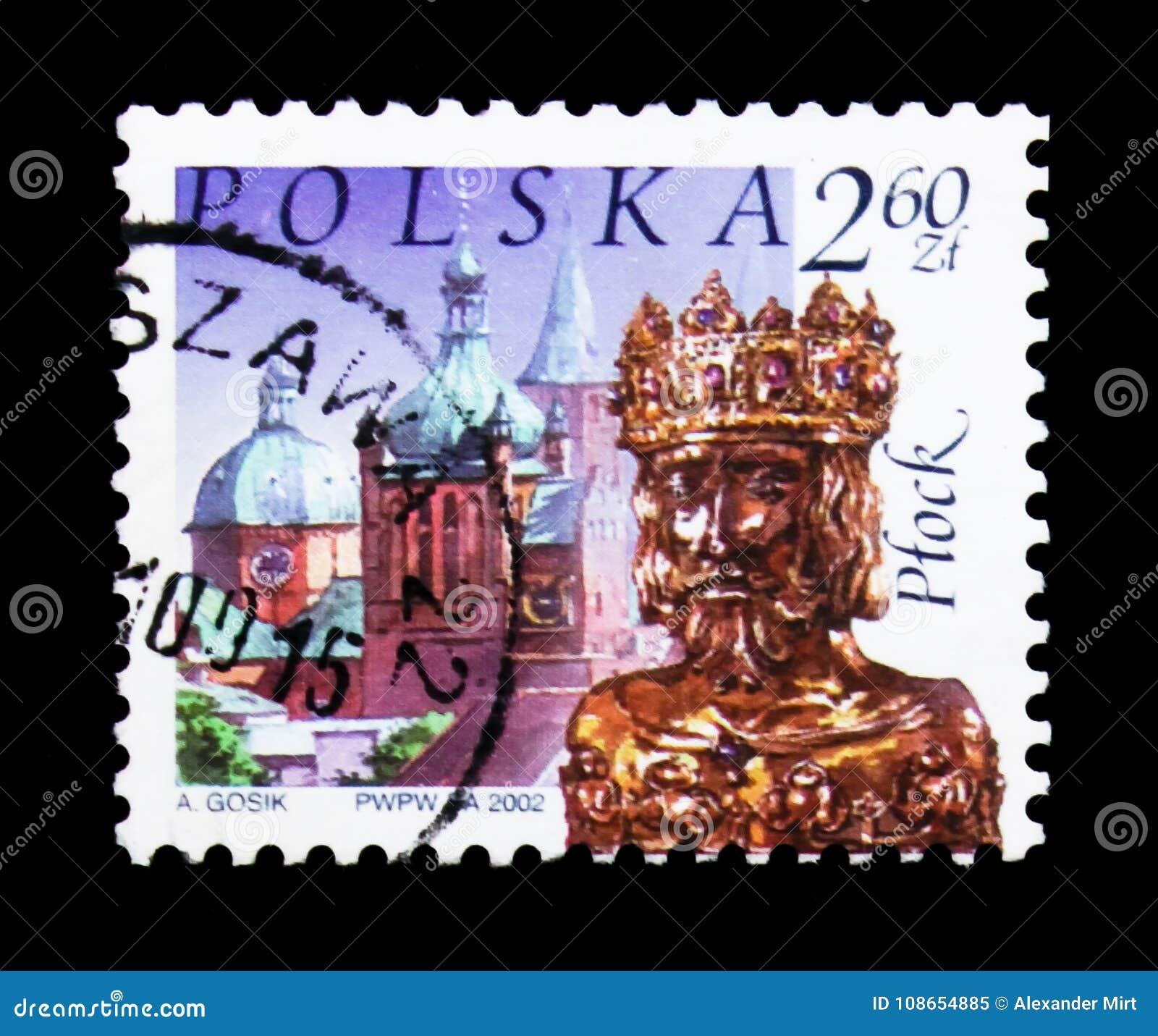 Retranchez-vous, reliquaire de saint Sigismund, Plock, serie polonais de points de repère de ville, vers 2002