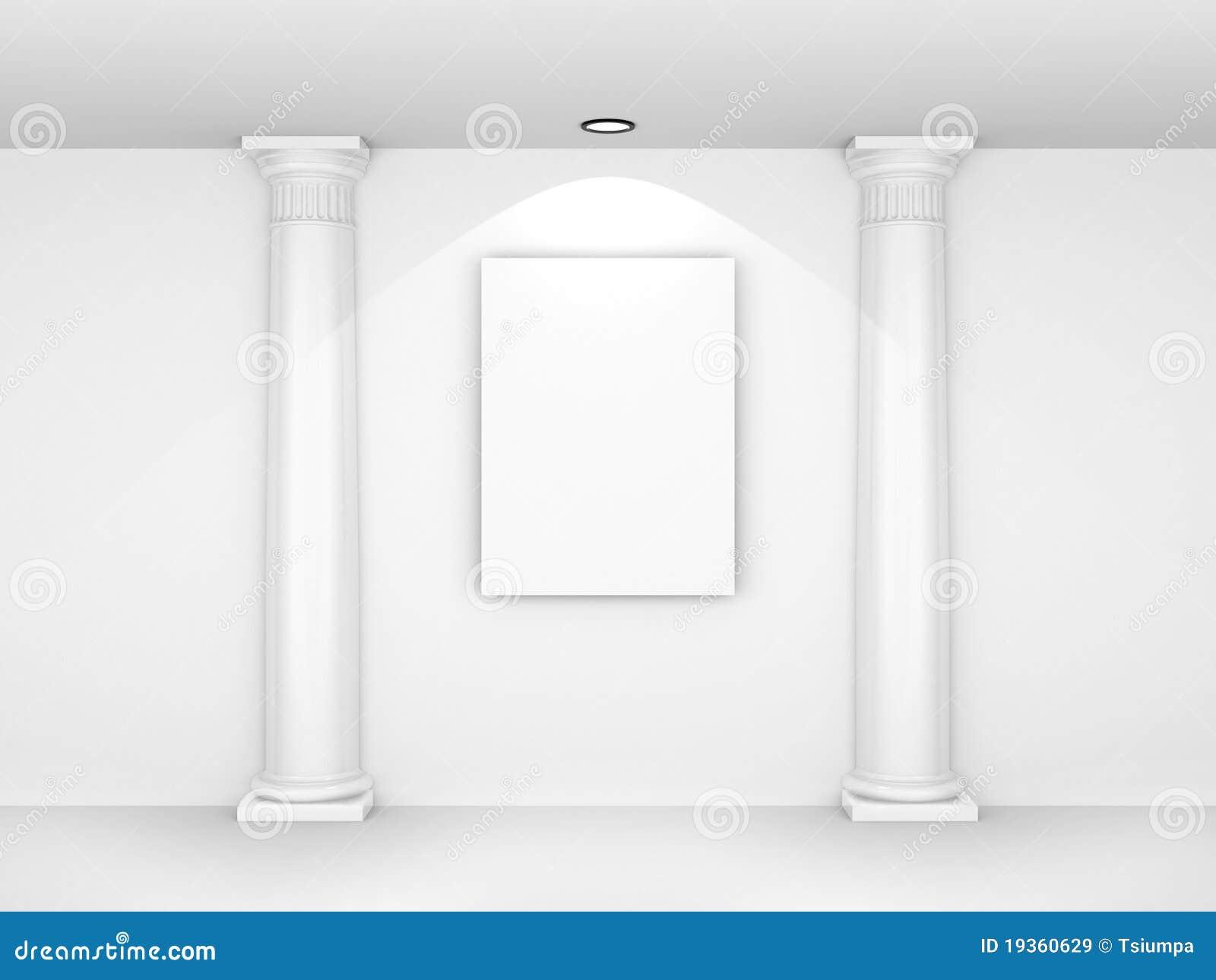 Retrato 3d em branco