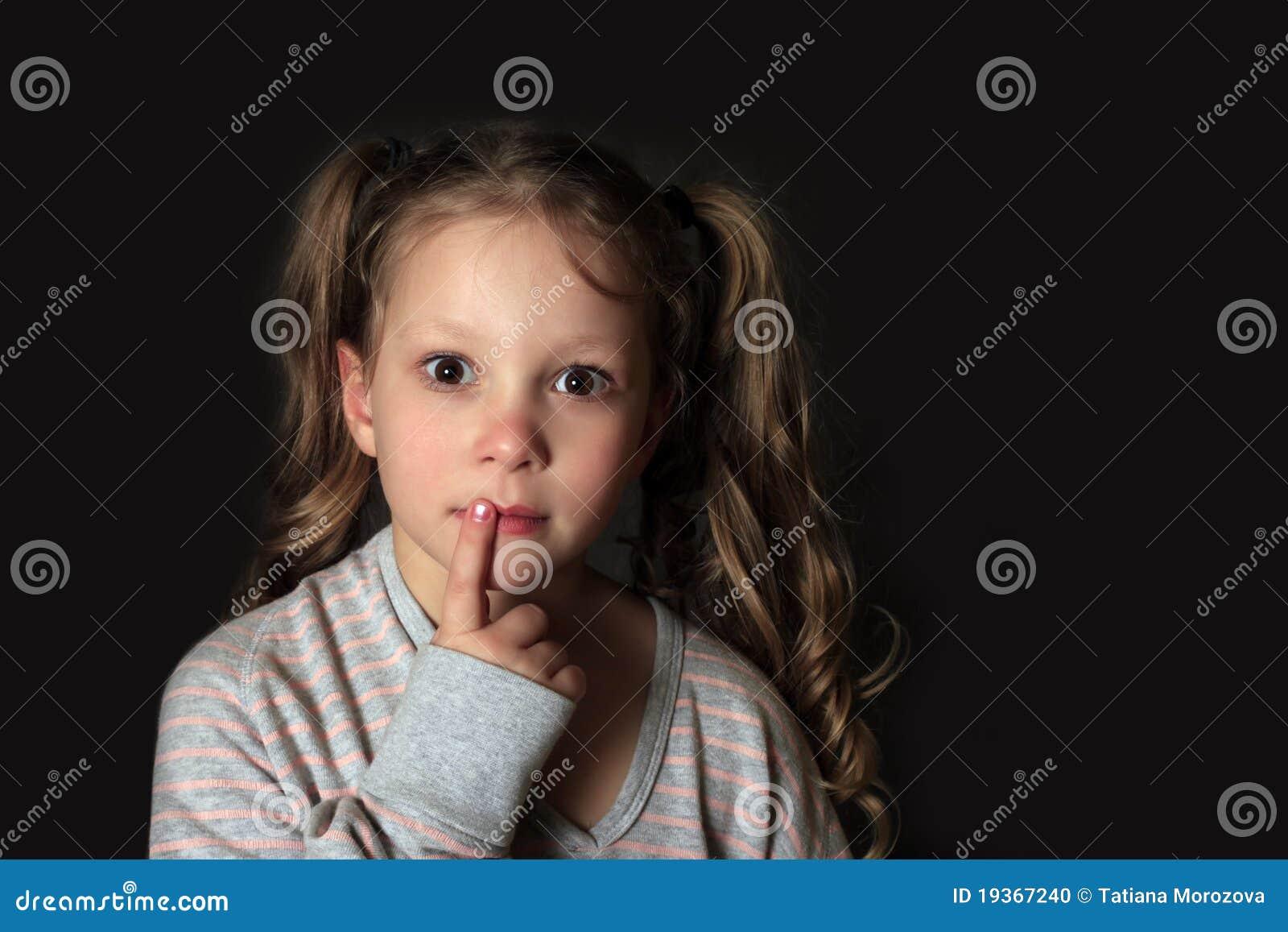 Retrato 5 anos de menina