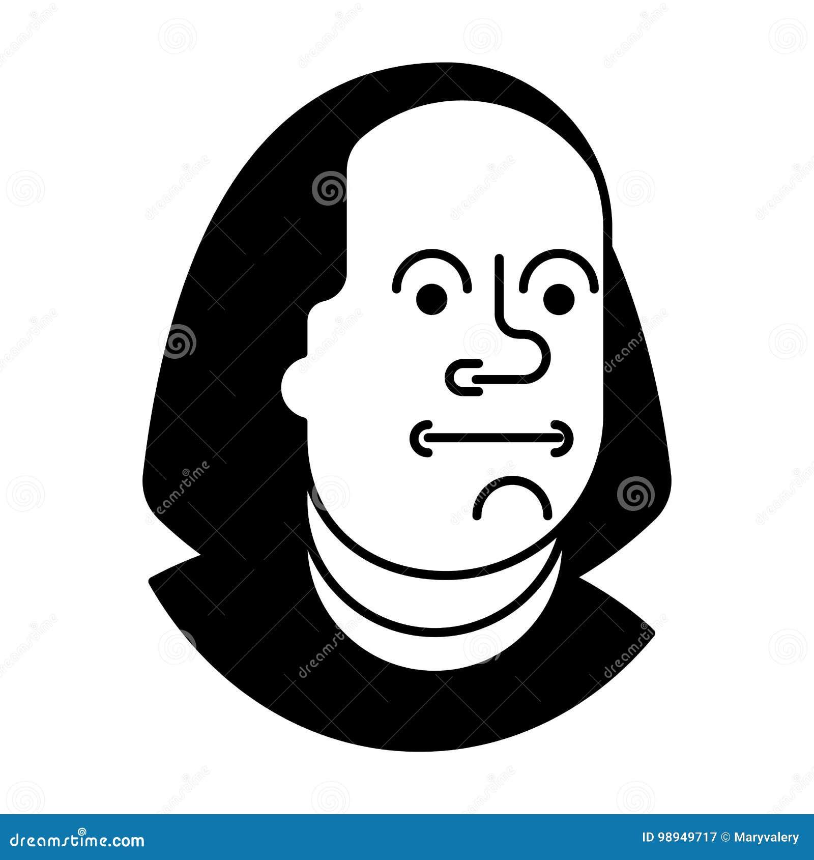 Retrato Benjamin Franklin isolado em 100 dólares de cédula EUA