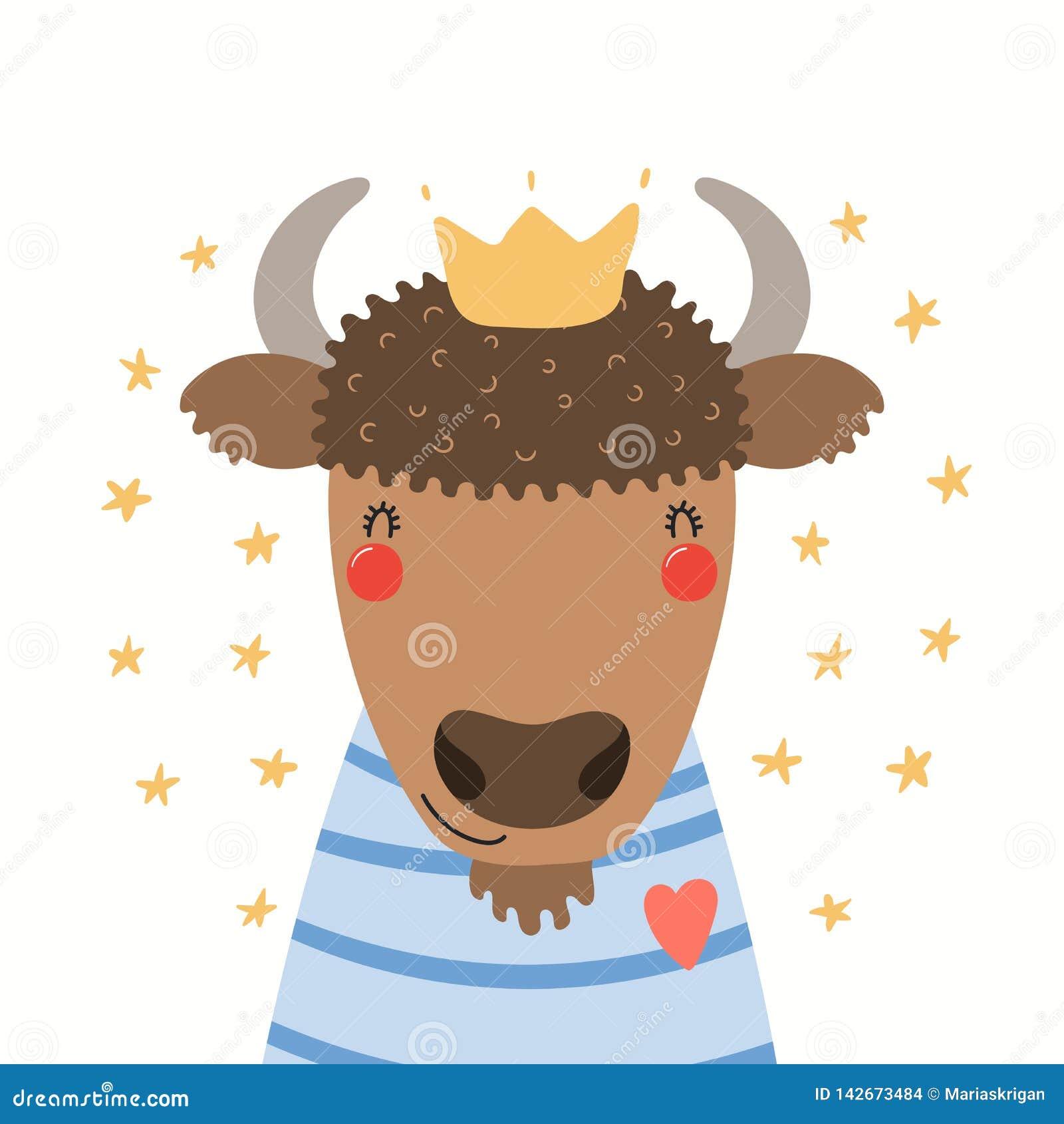 Retrato bonito do bisonte