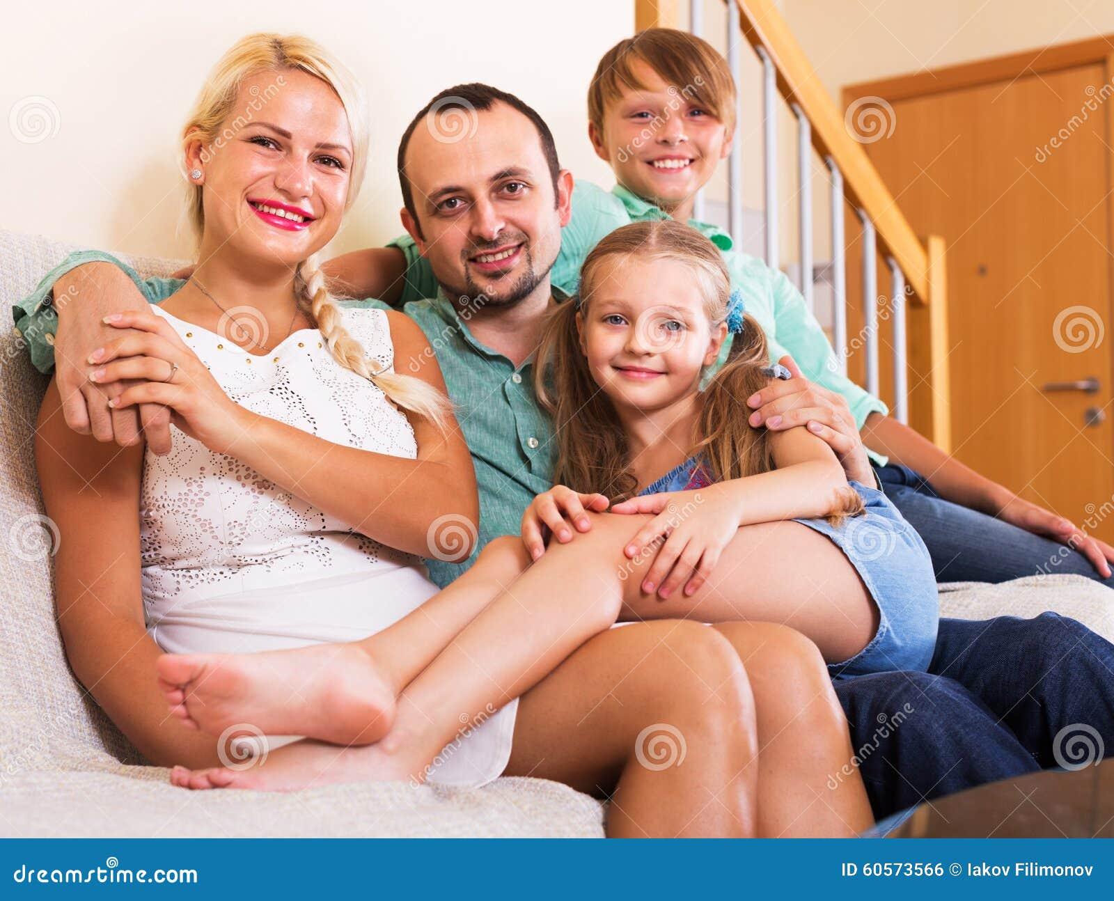 Retrato da família de classe média