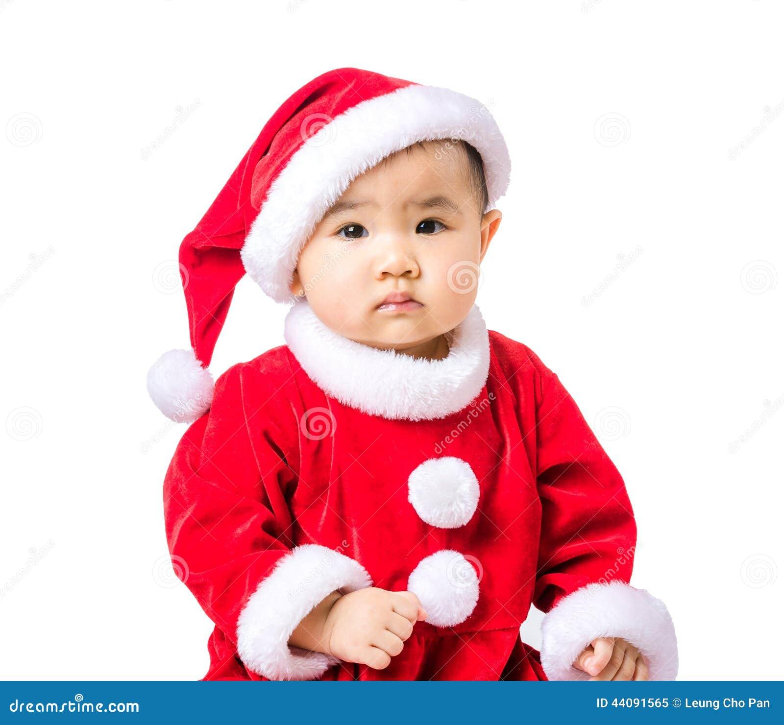 Retrato da menina com molho do Natal