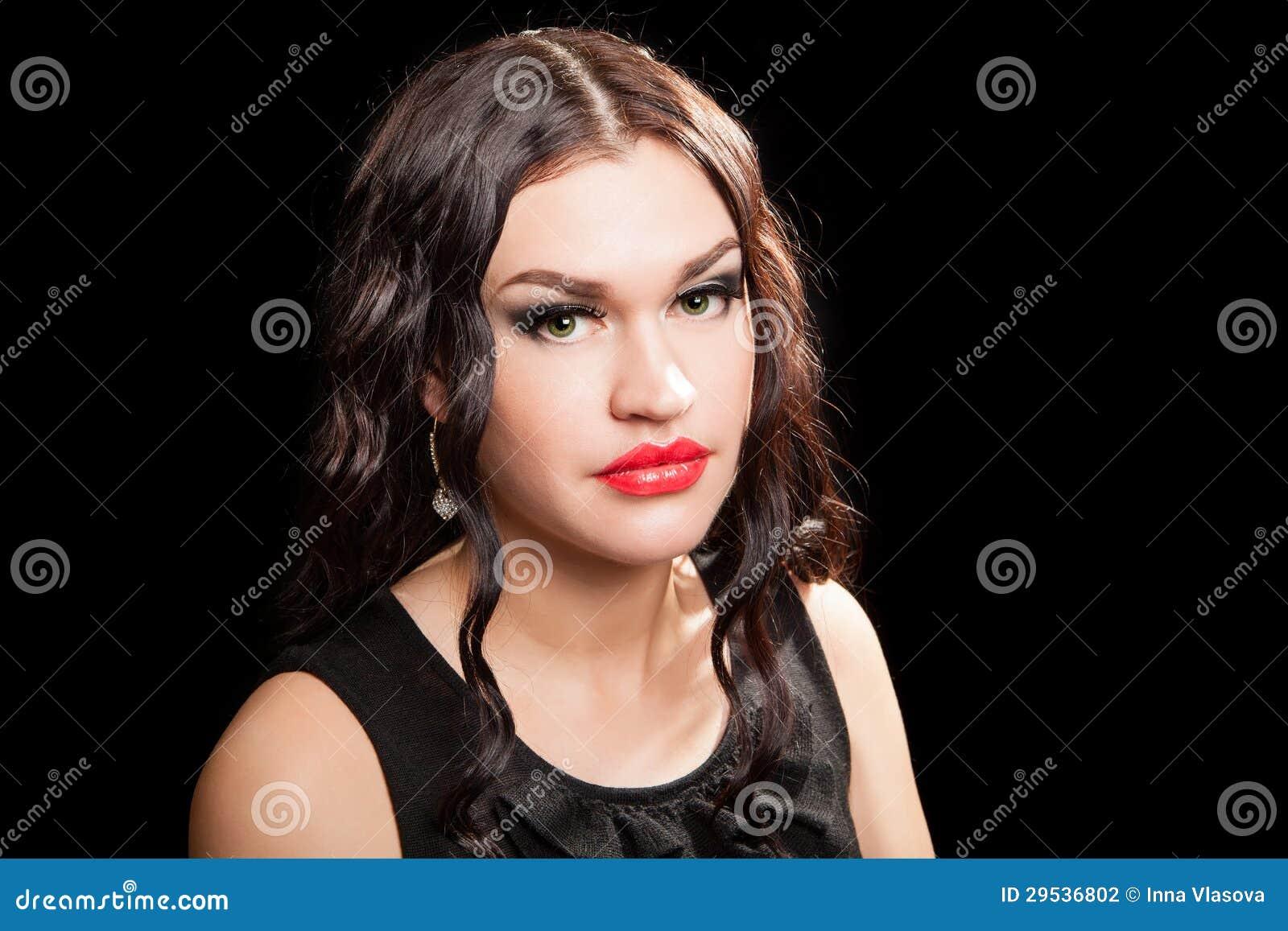 Retrato da mulher à moda bonita