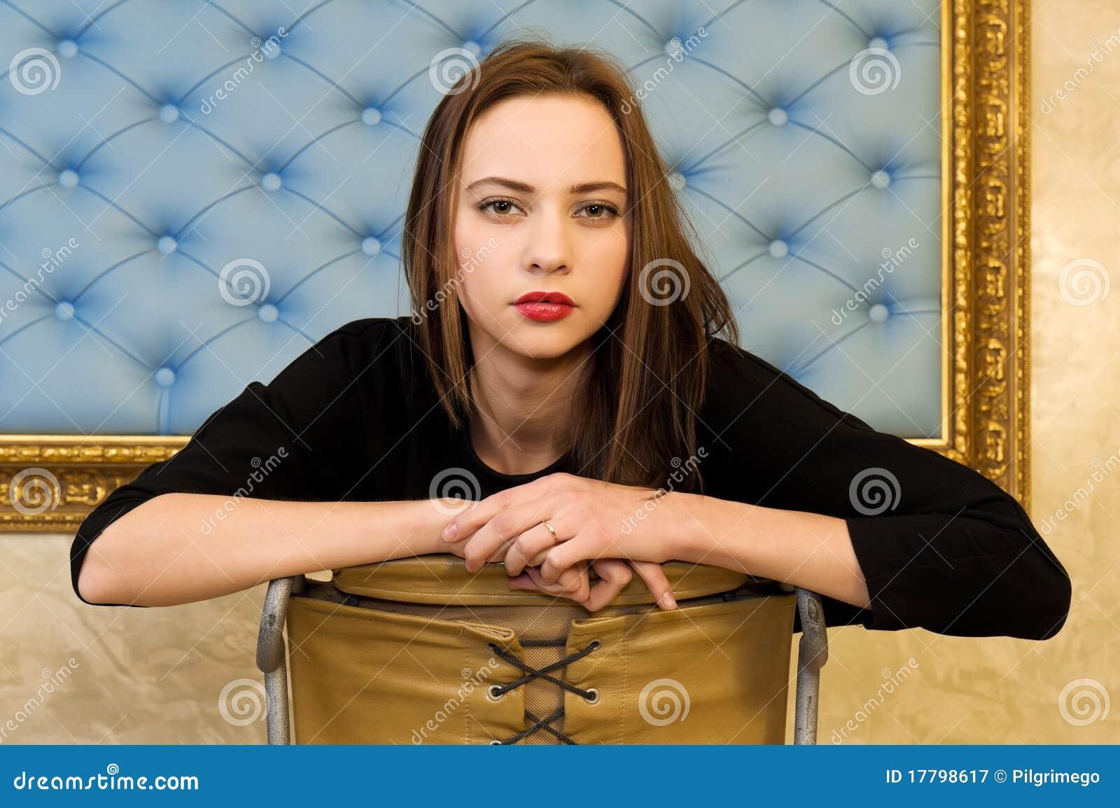 Retrato da mulher bonita