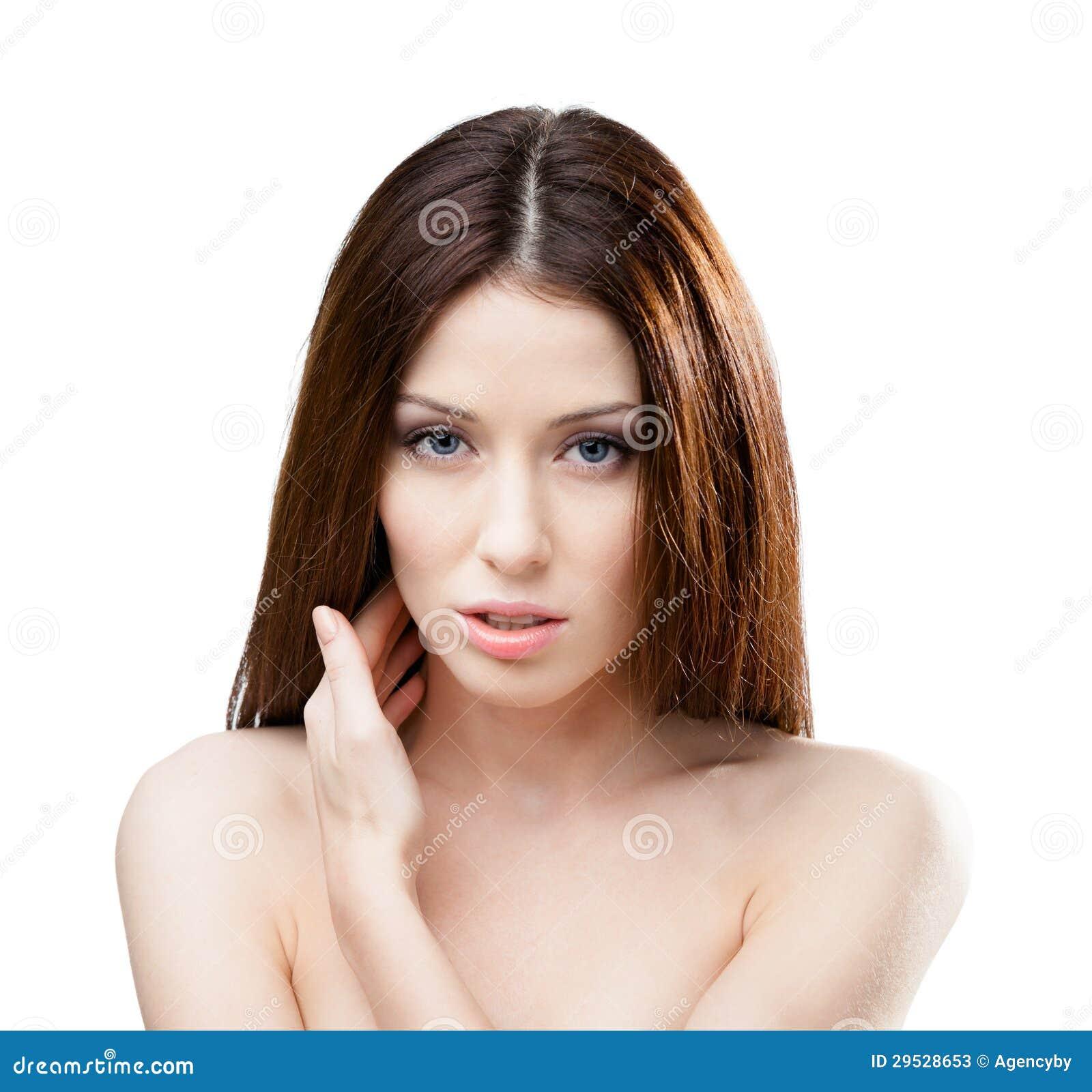 Retrato da mulher bonita despida