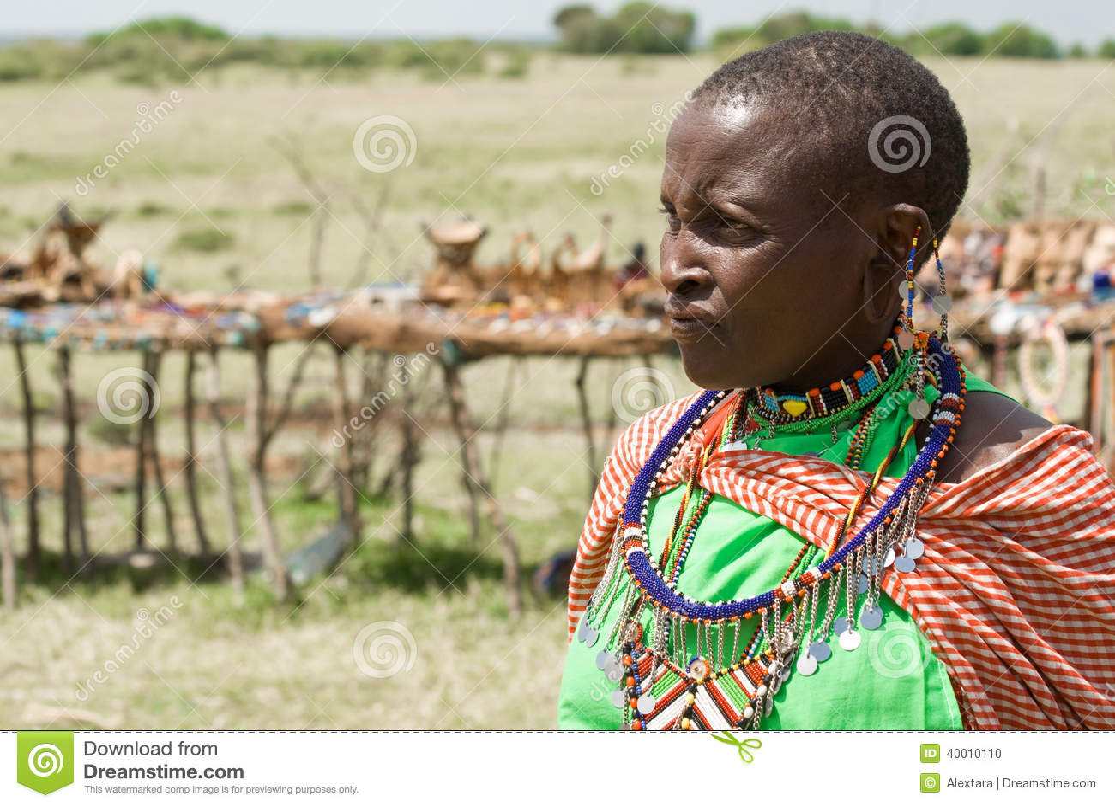Retrato da mulher do Masai