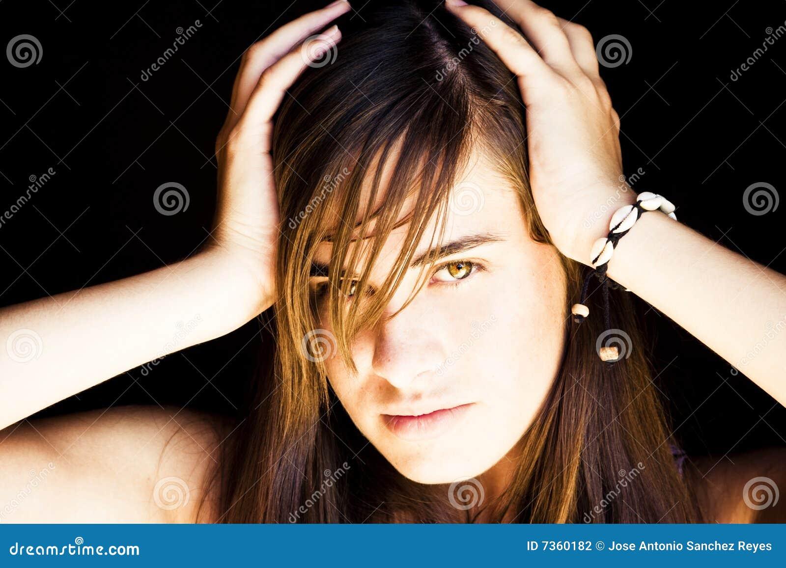 Retrato da mulher nova