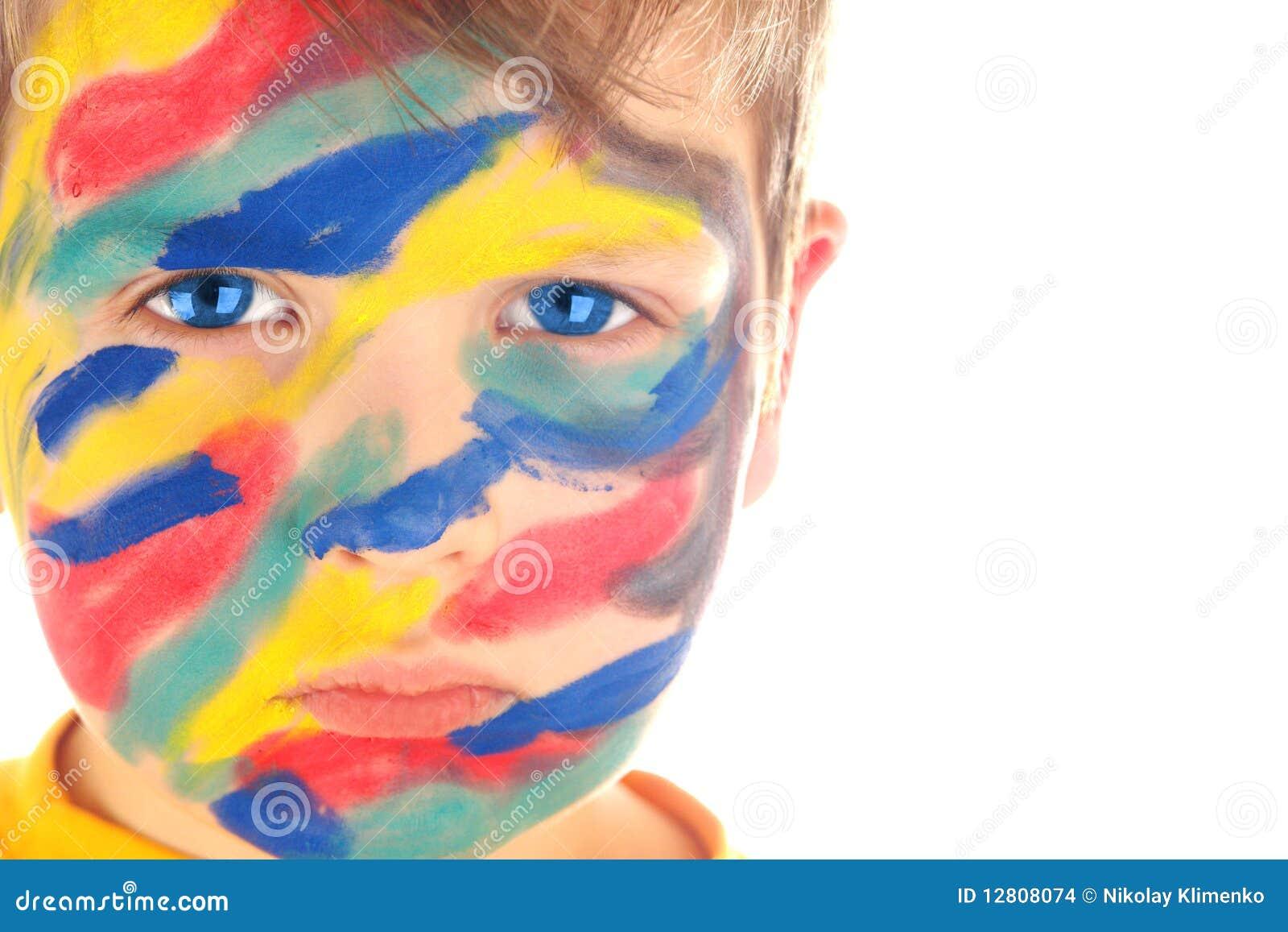 Retrato da pintura do menino