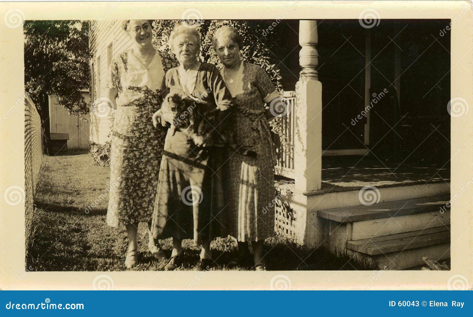 Retrato das irmãs do vintage