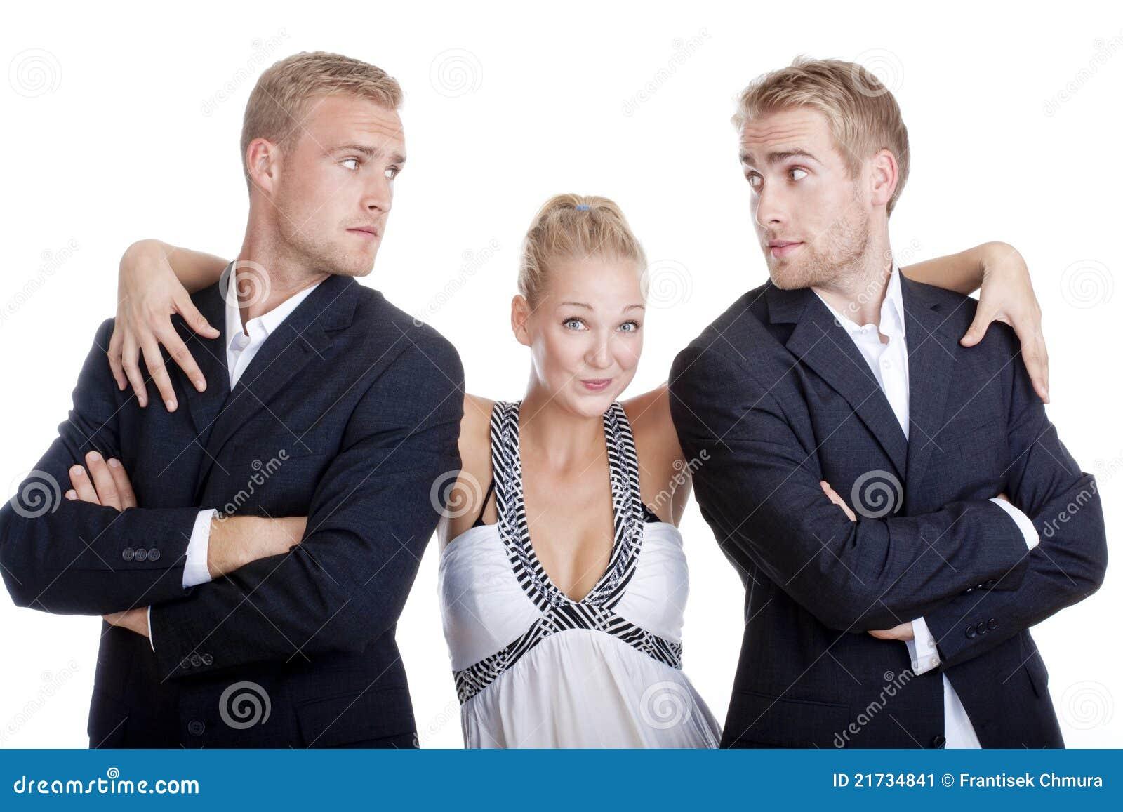 Dois homens e uma mulher foda