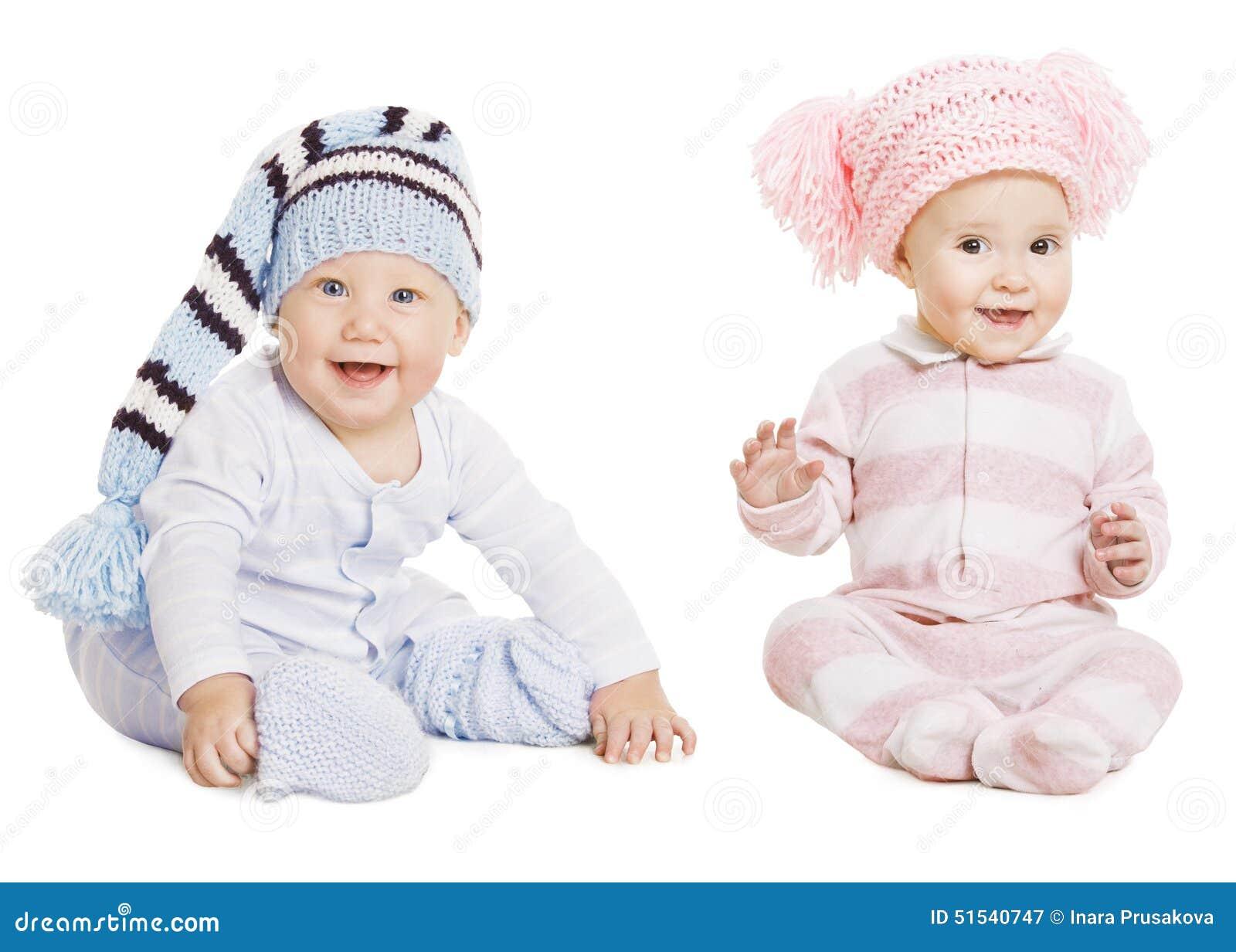 Retrato de la muchacha del bebé, niños sombrero de lana, enredaderas de las correas eslabonadas de los niños