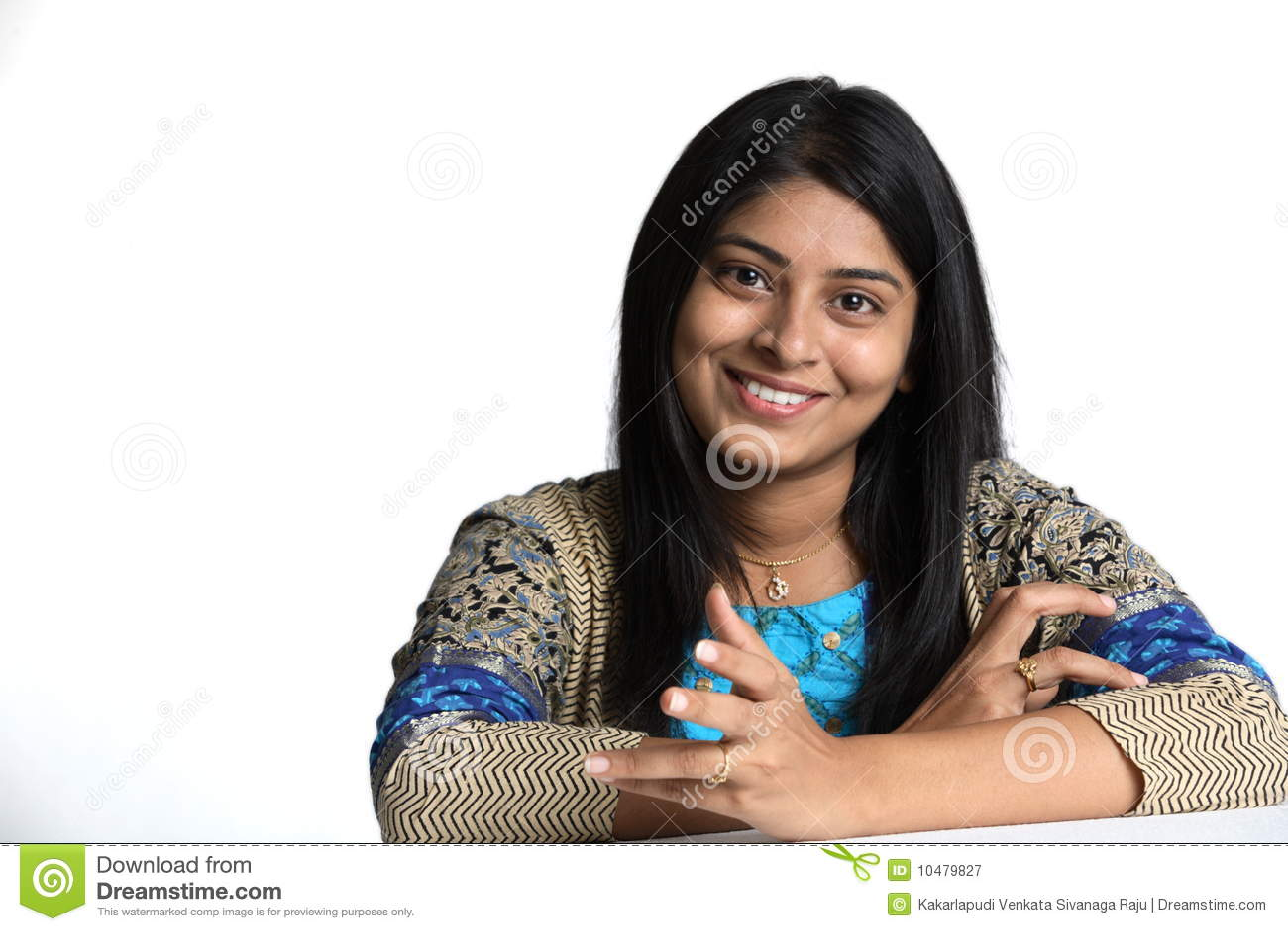 Retrato de la mujer india