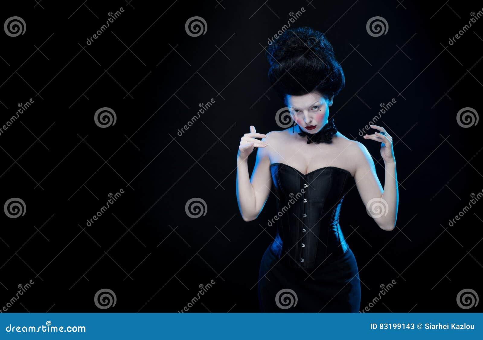 Actriz La Morena Ahogadores Pelo El De Con Retrato Alto Mujer w7IgBq1T