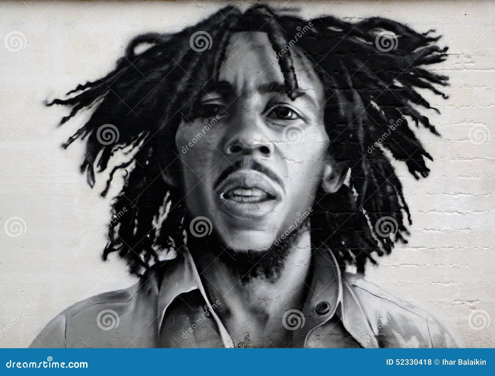 Retrato De La Pintada De Bob Marley Foto de archivo editorial ...