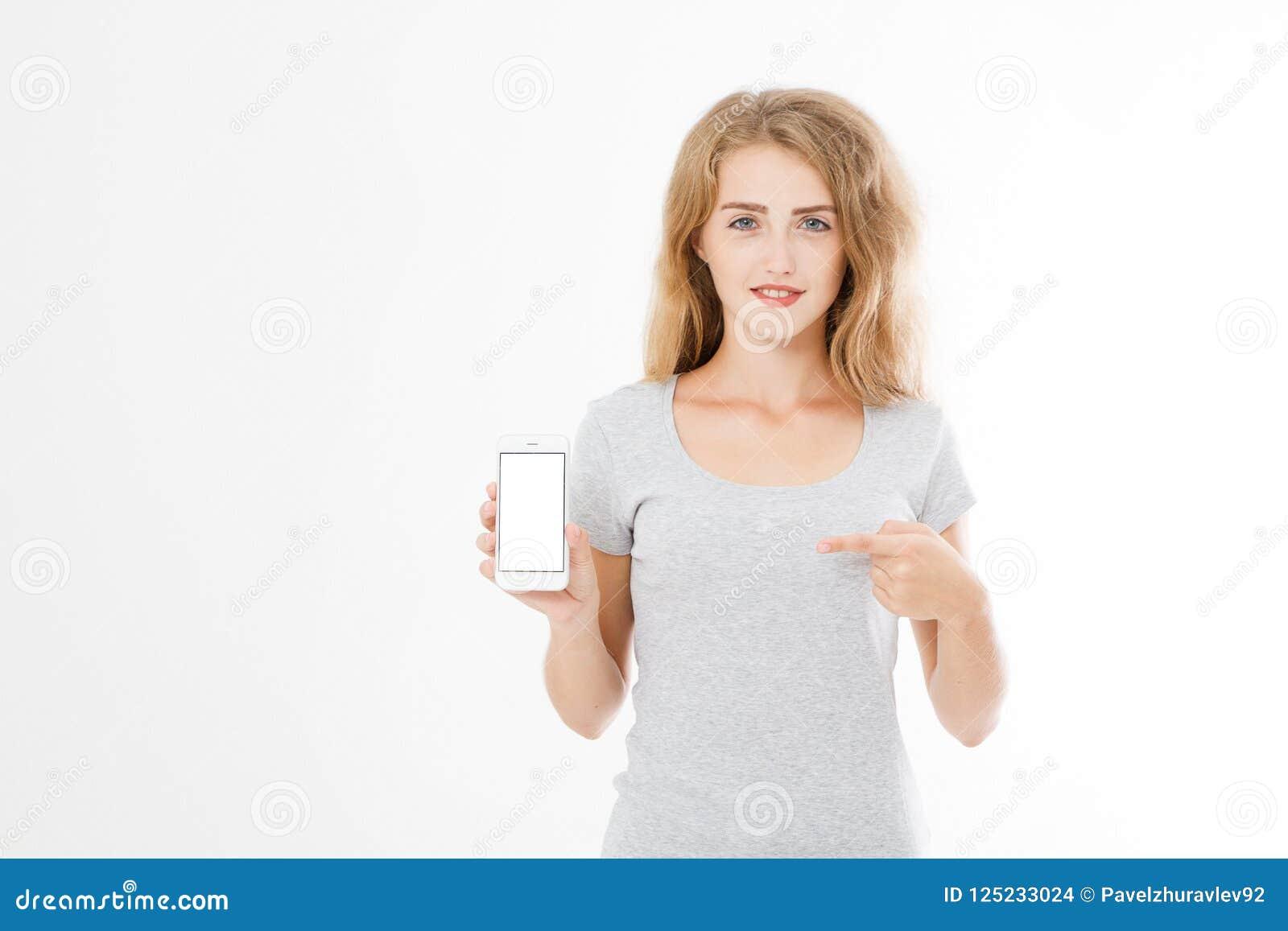 Retrato de la sonrisa atractivo, mujer bonita, morena, muchacha en la camisa, señalando Empresaria adolescente Encargado joven co