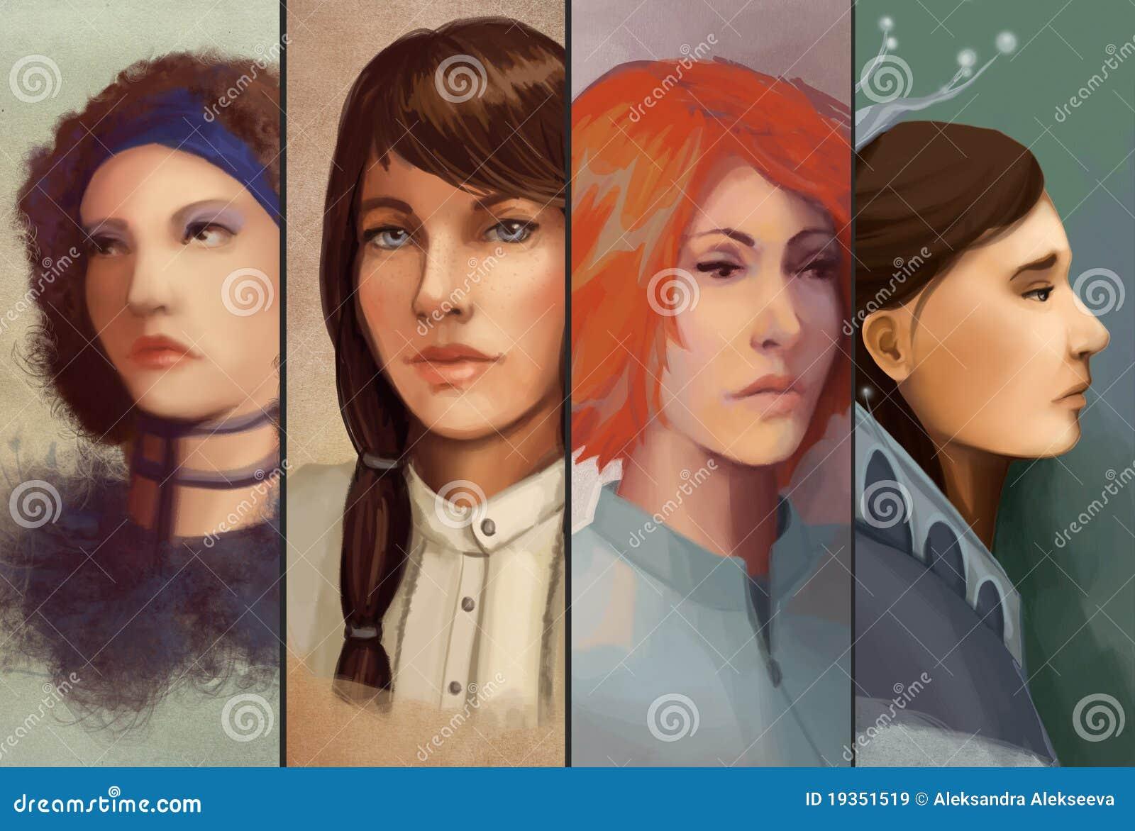 Retrato de quatro mulheres
