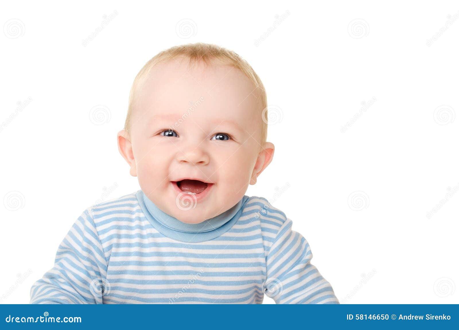 Retrato de reír al bebé divertido