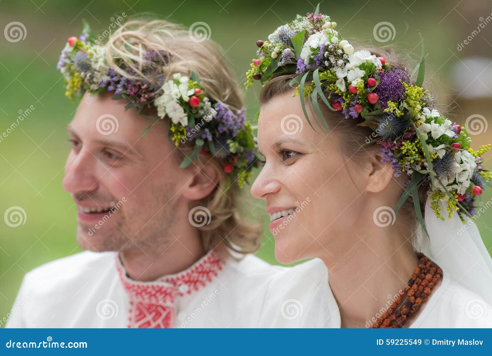 Retrato de recienes casados