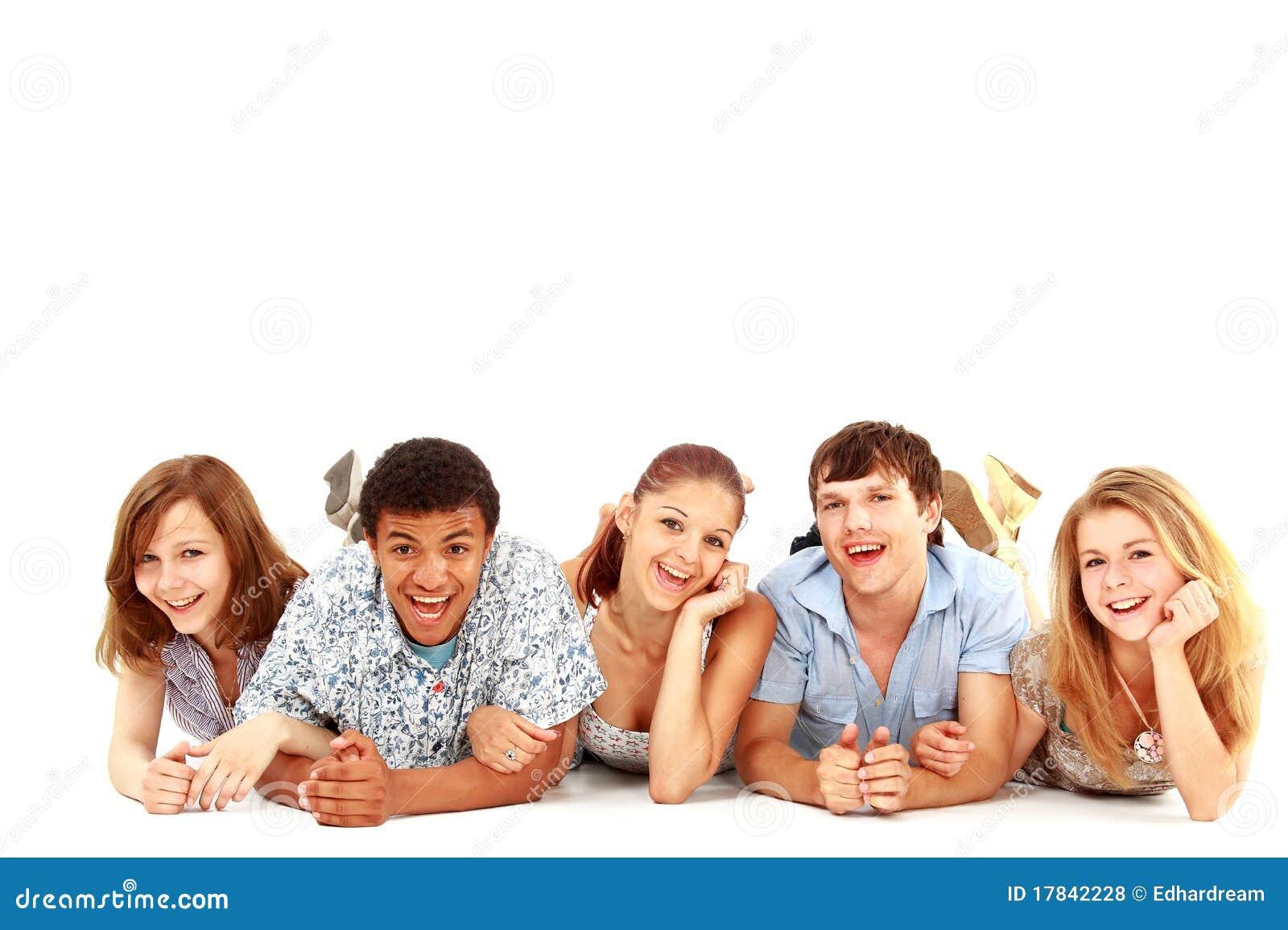 Retrato de rir amigos novos