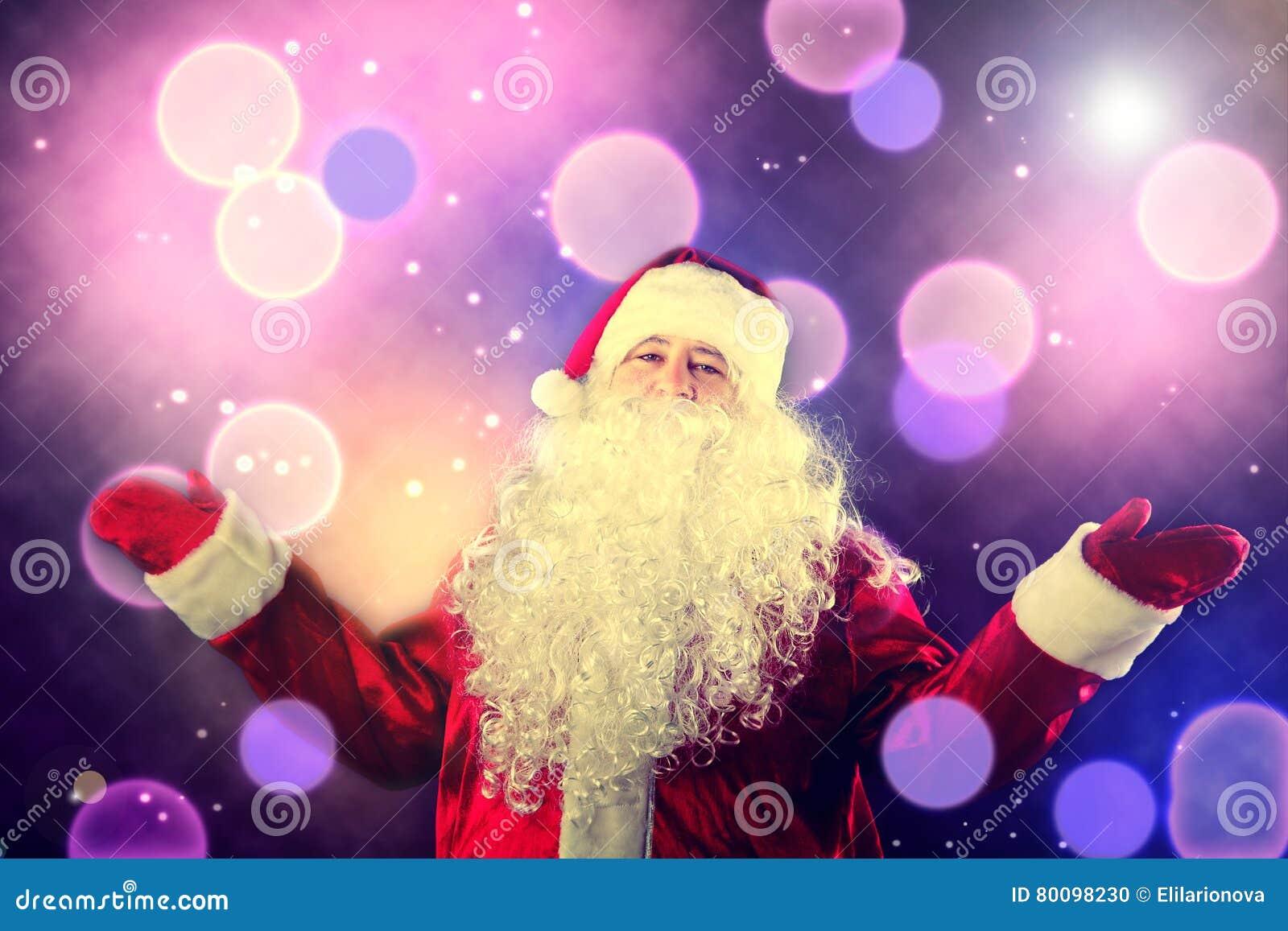 Retrato de Santa Claus de sorriso