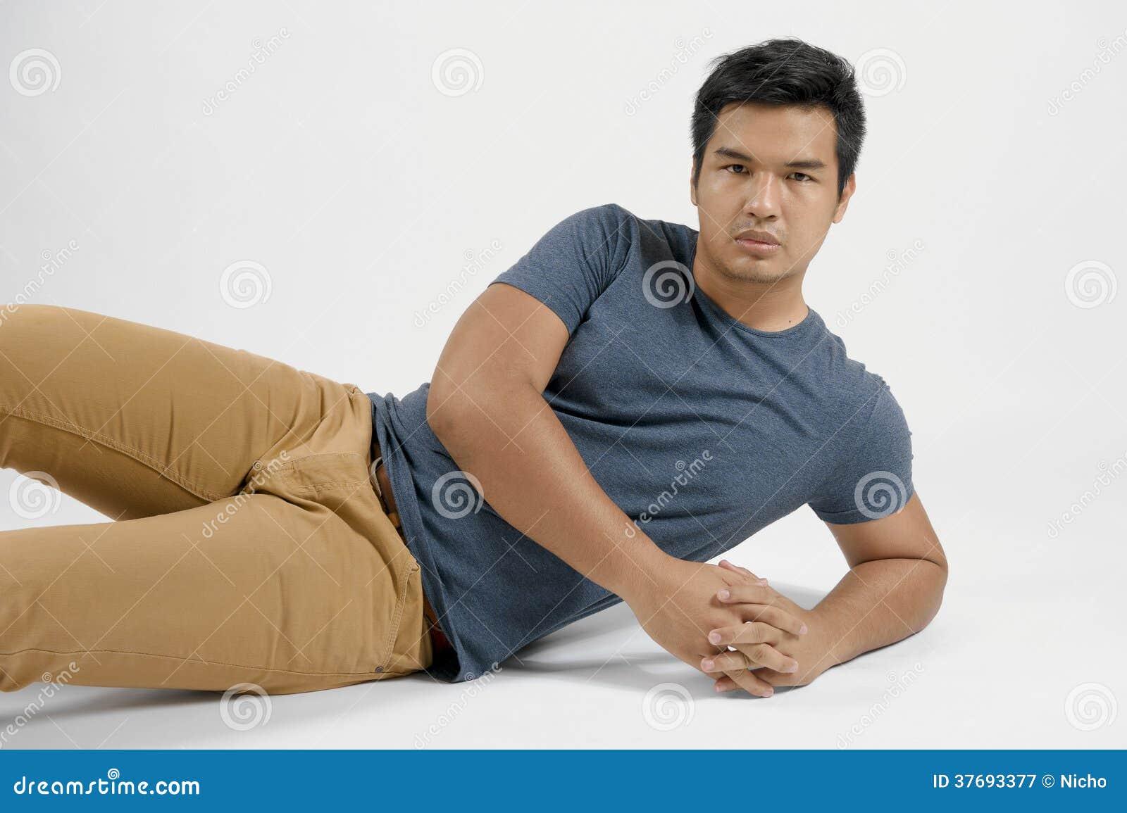 Retrato de um homem asiático