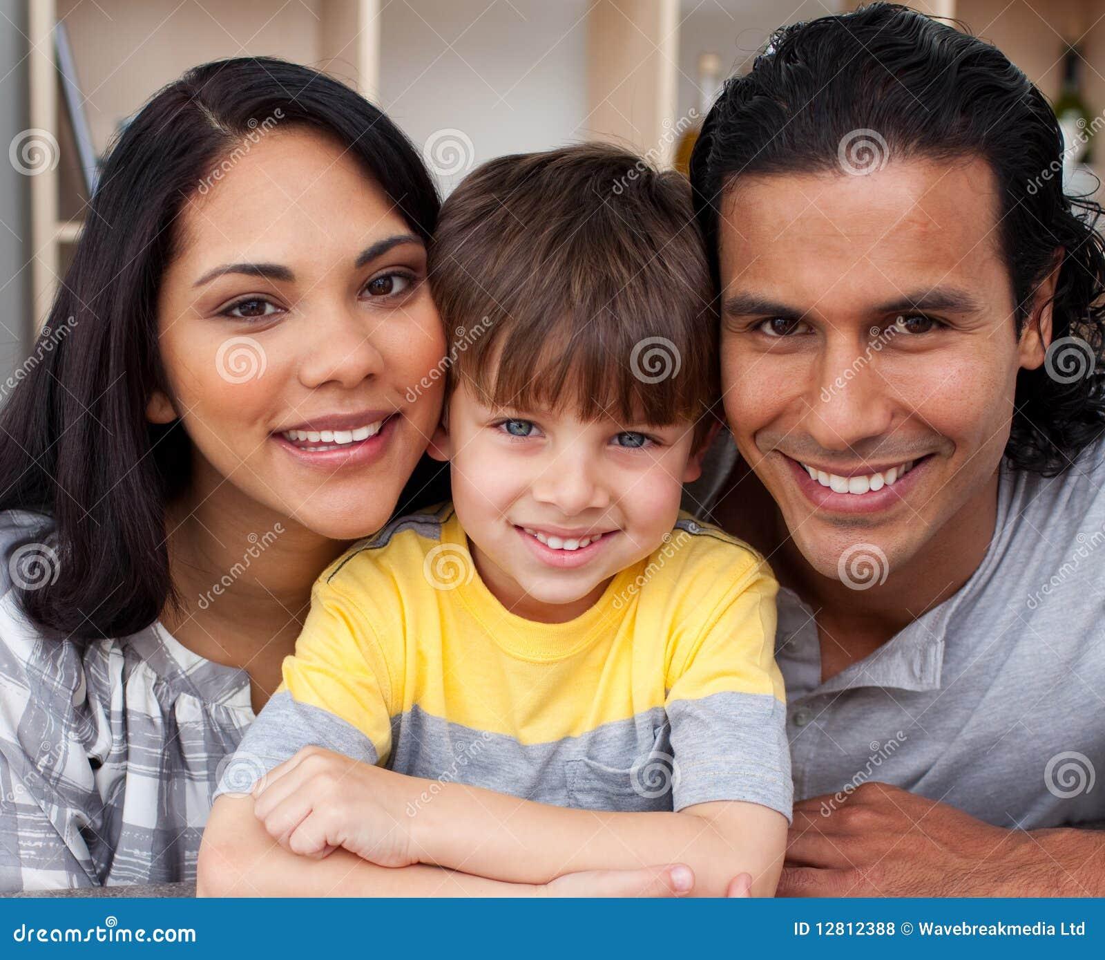 Retrato de uma família loving