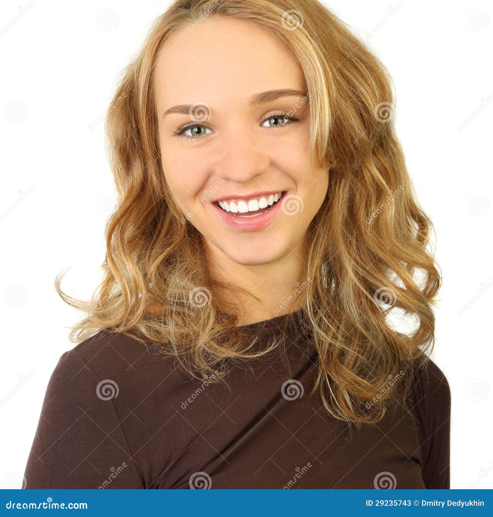 Download Retrato De Uma Jovem Mulher Bonita Imagem de Stock - Imagem de olhos, isolado: 29235743
