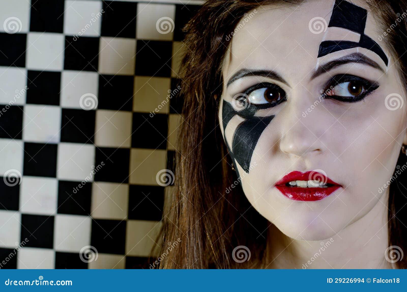 Download Retrato de uma menina foto de stock. Imagem de branco - 29226994