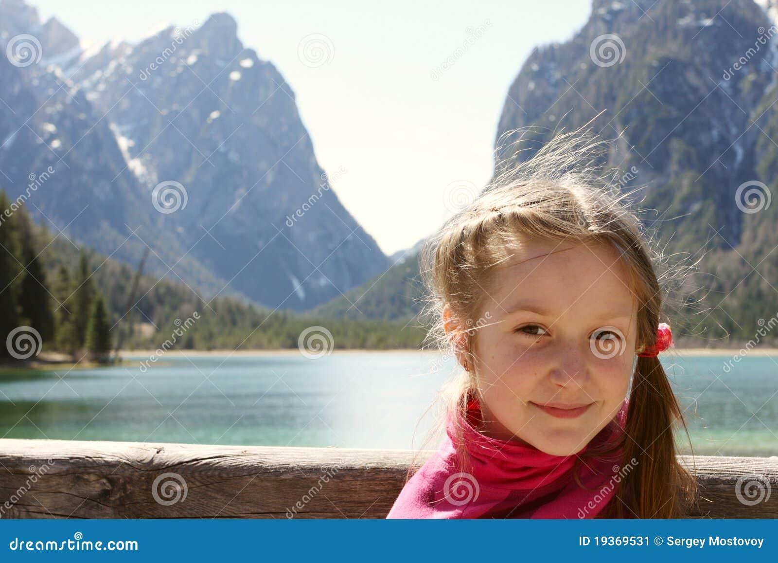 Retrato de uma menina da criança