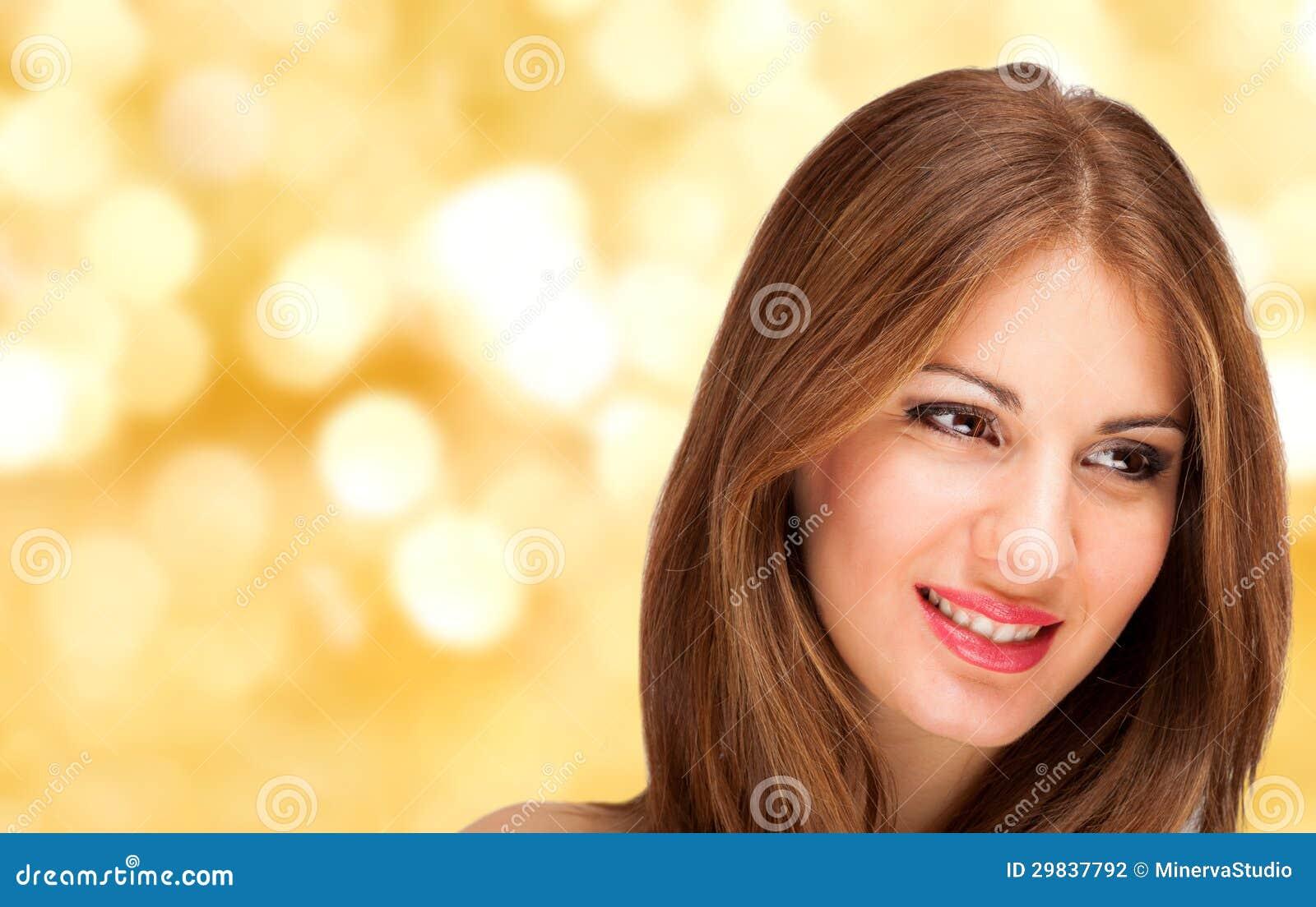 Retrato bonito da mulher