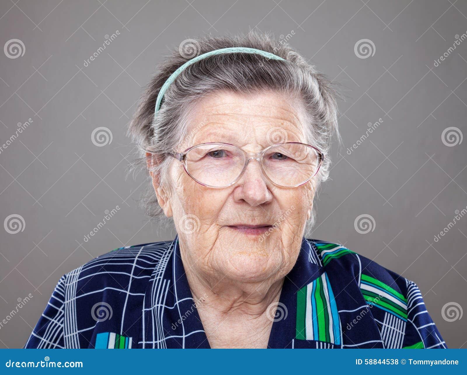 Retrato de uma mulher idosa