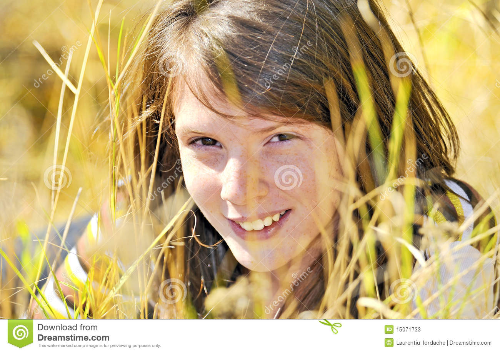 Retrato de una muchacha sonriente