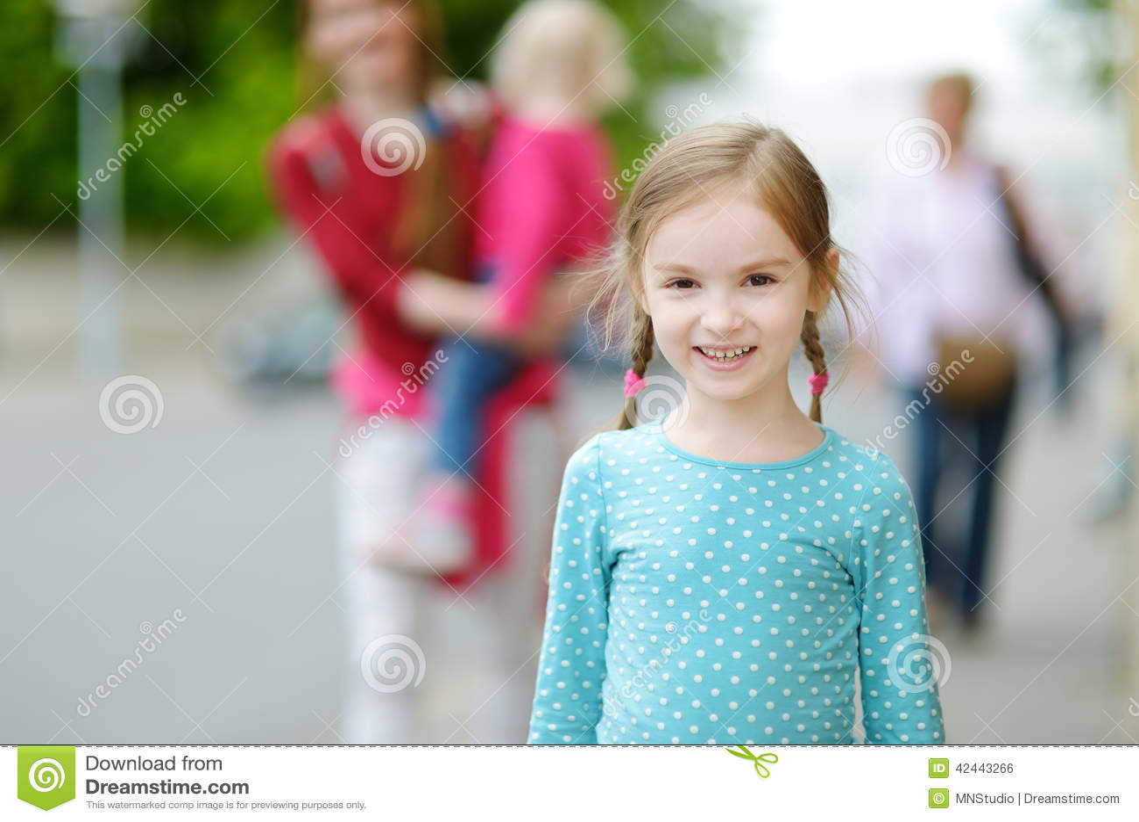 Retrato de una niña linda