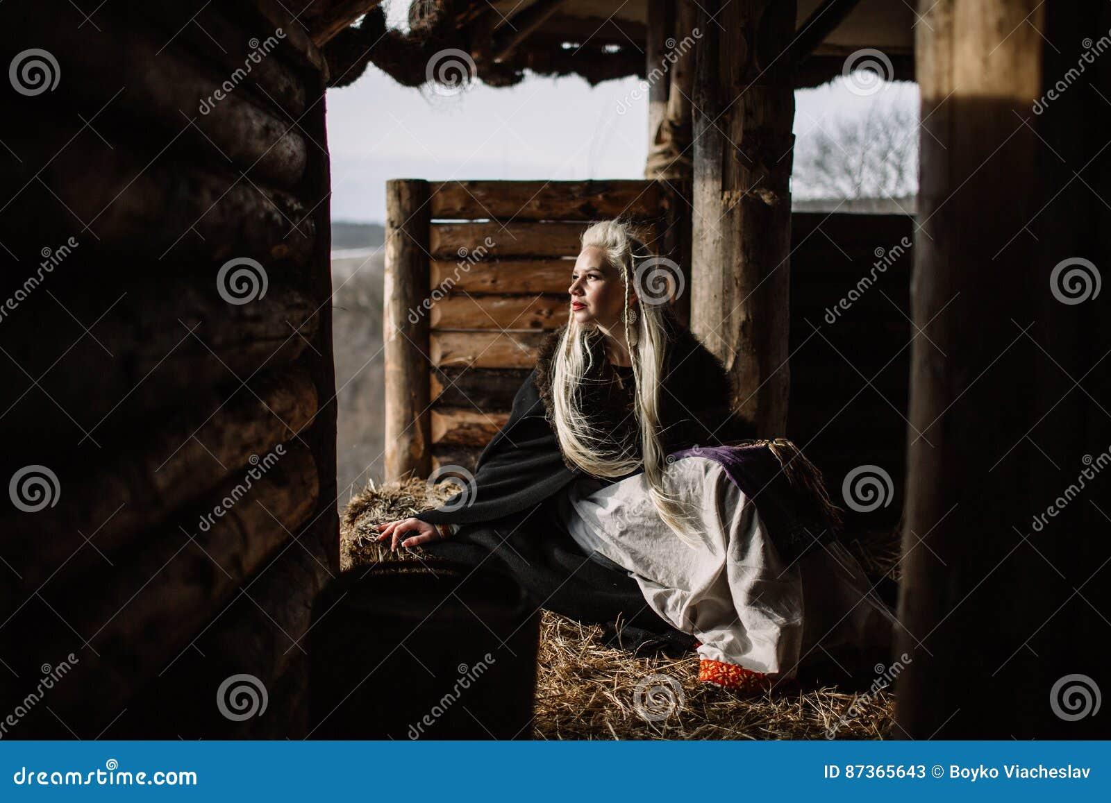 Retrato de Viking louro