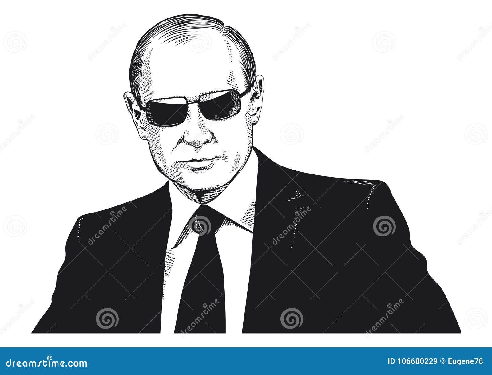 Retrato de Vladimir Putin