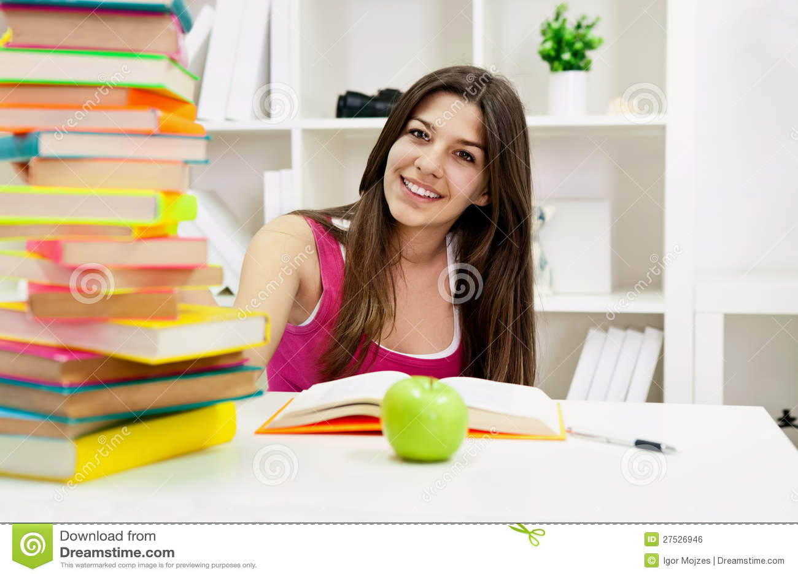 Retrato del estudiante lindo