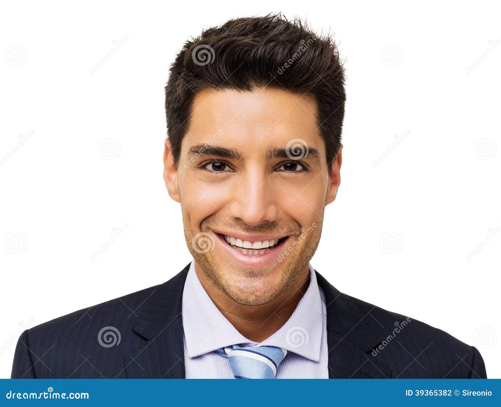 Retrato del hombre de negocios sonriente