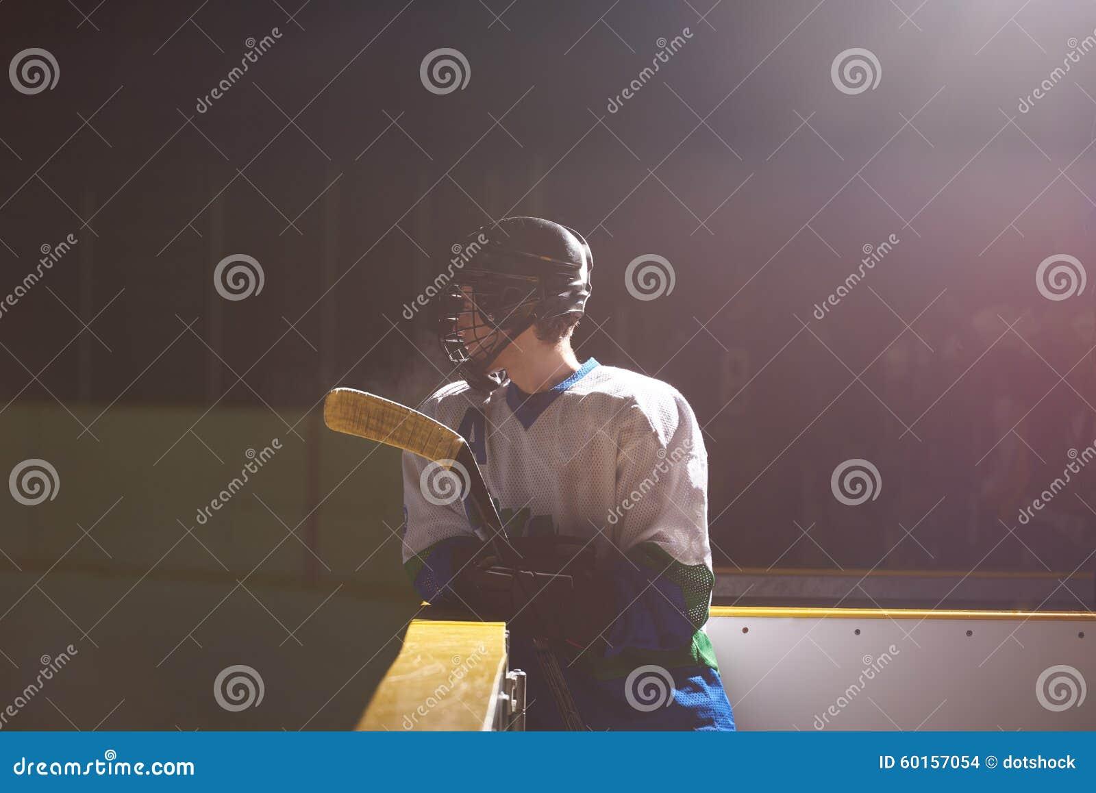 Retrato del jugador del hockey sobre hielo