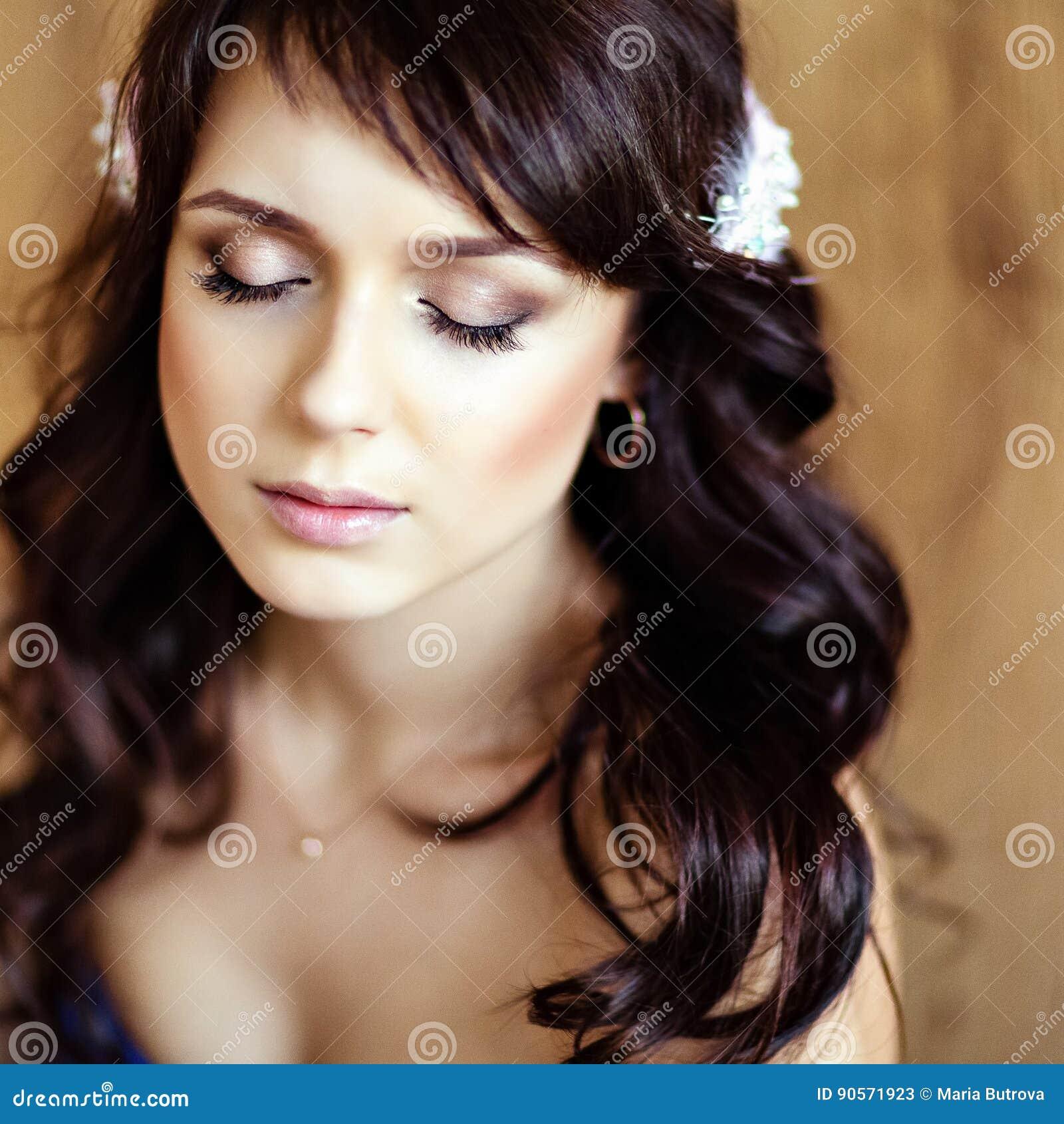 Retrato Del Muchachas Hermosas Sensuales Muy Lindas Morenas