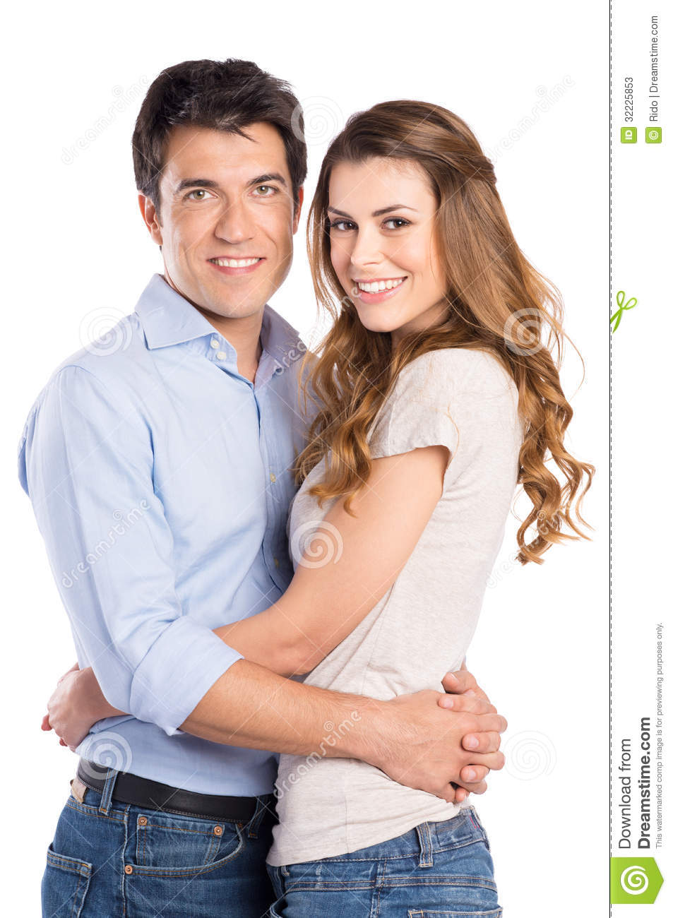 Download Retrato Do Aperto Novo Dos Pares Imagem de Stock - Imagem de holding, embracing: 32225853