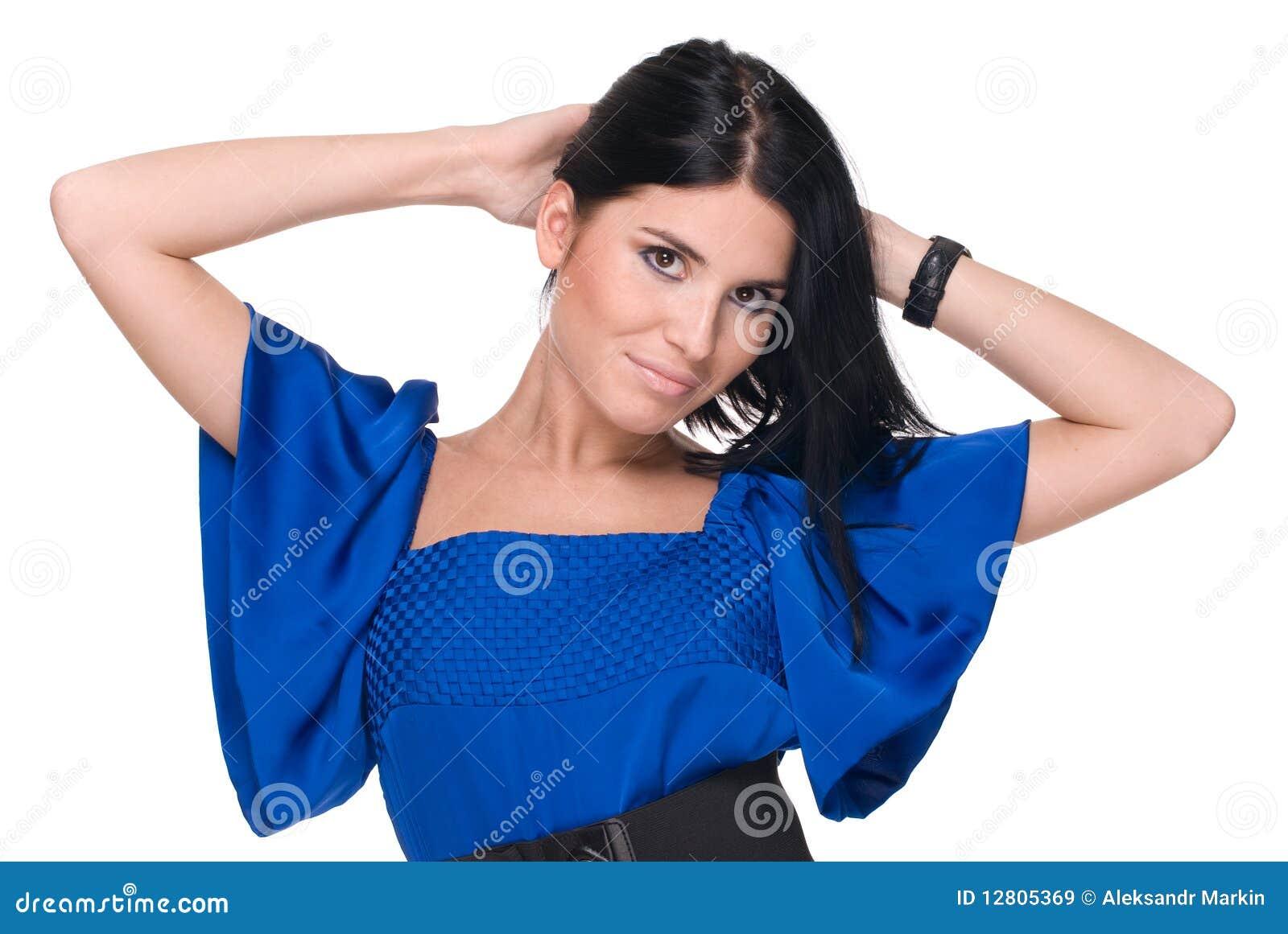Retrato do close up da mulher bonita da forma