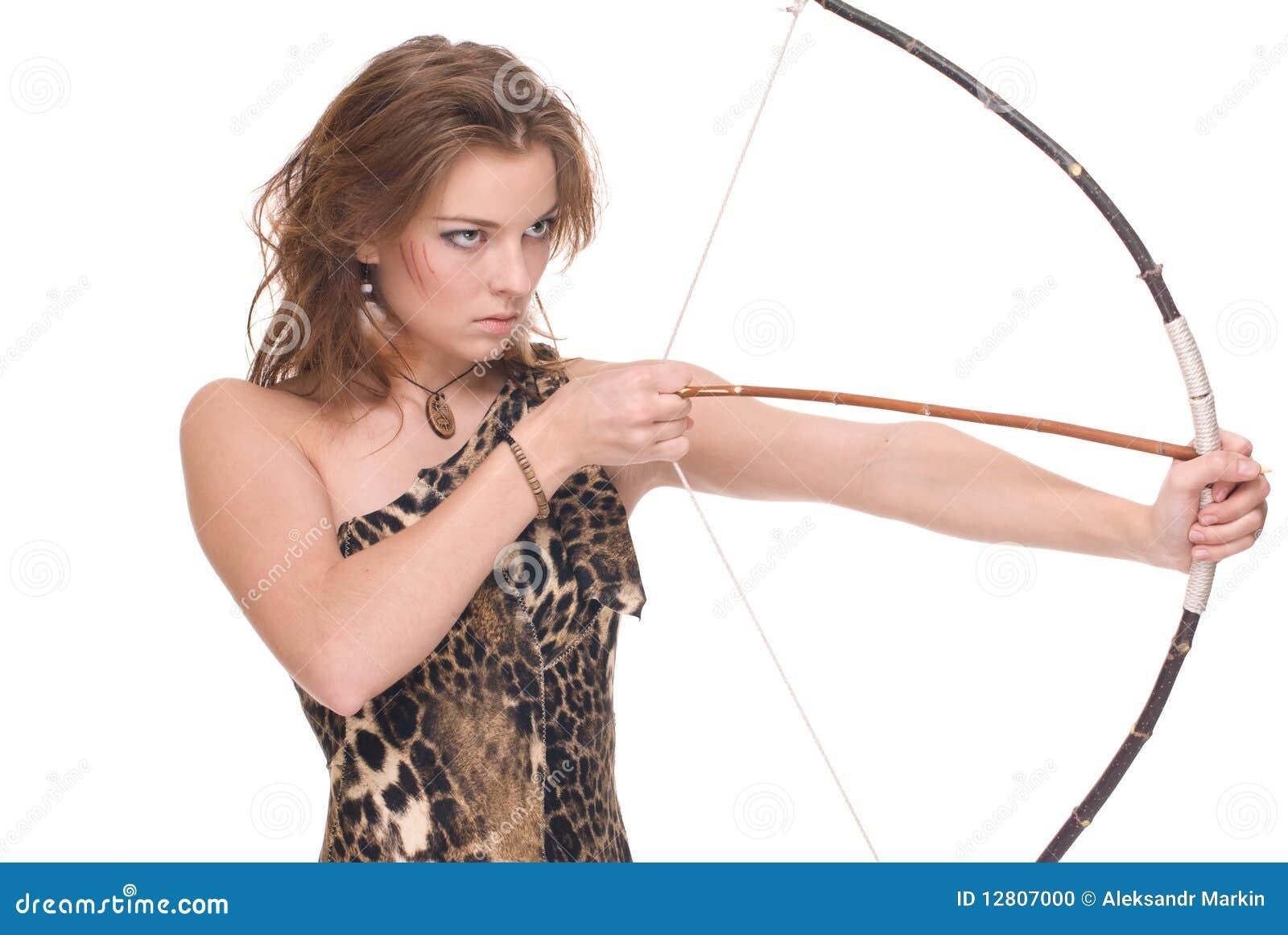 Retrato do close up da mulher selvagem nova com curva